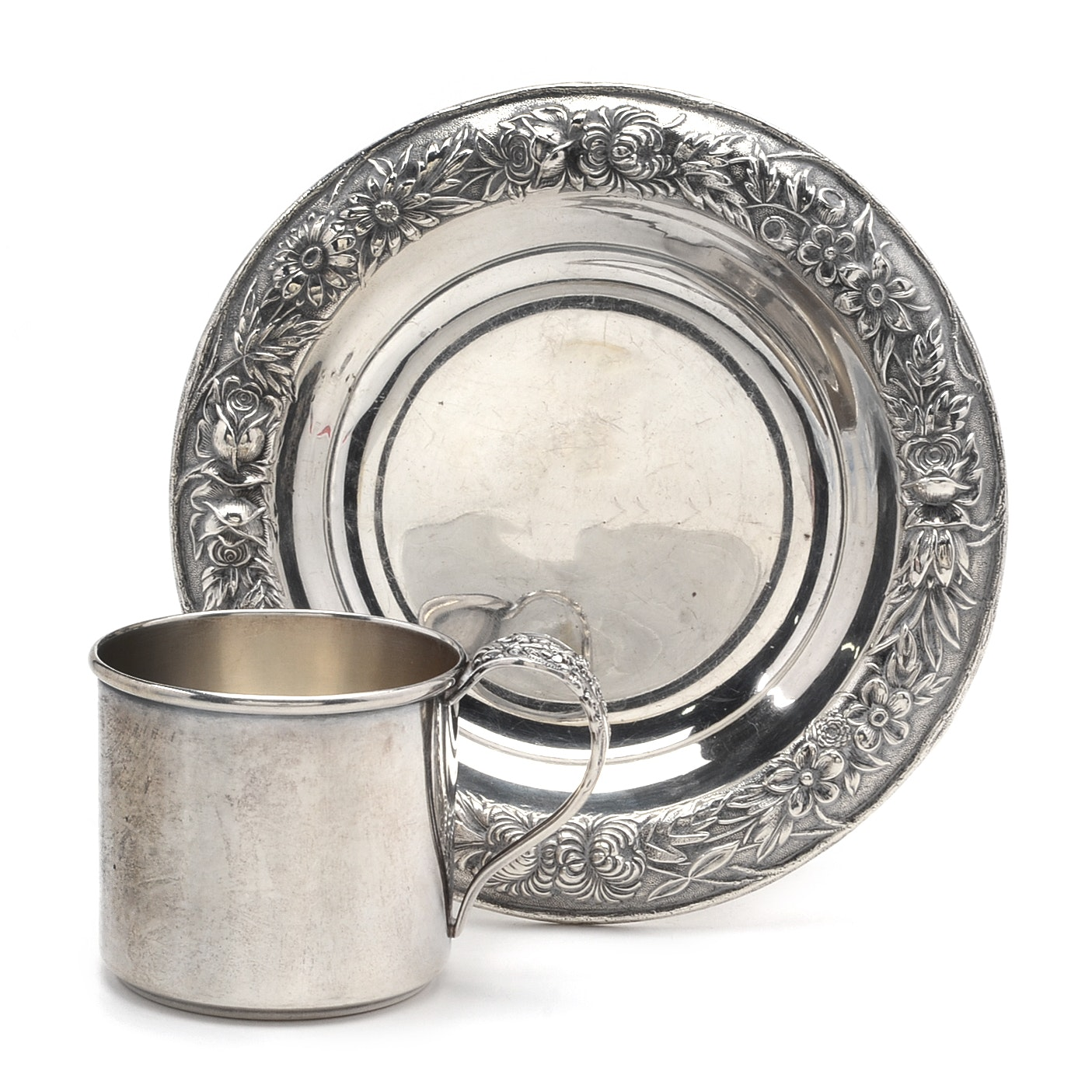 Sterling Silver Baby Cup and Nut Dish