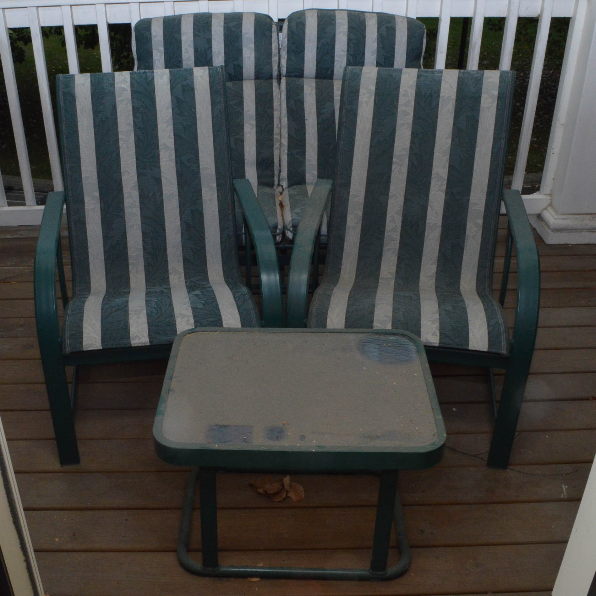 Green Metal Outdoor Furniture Set