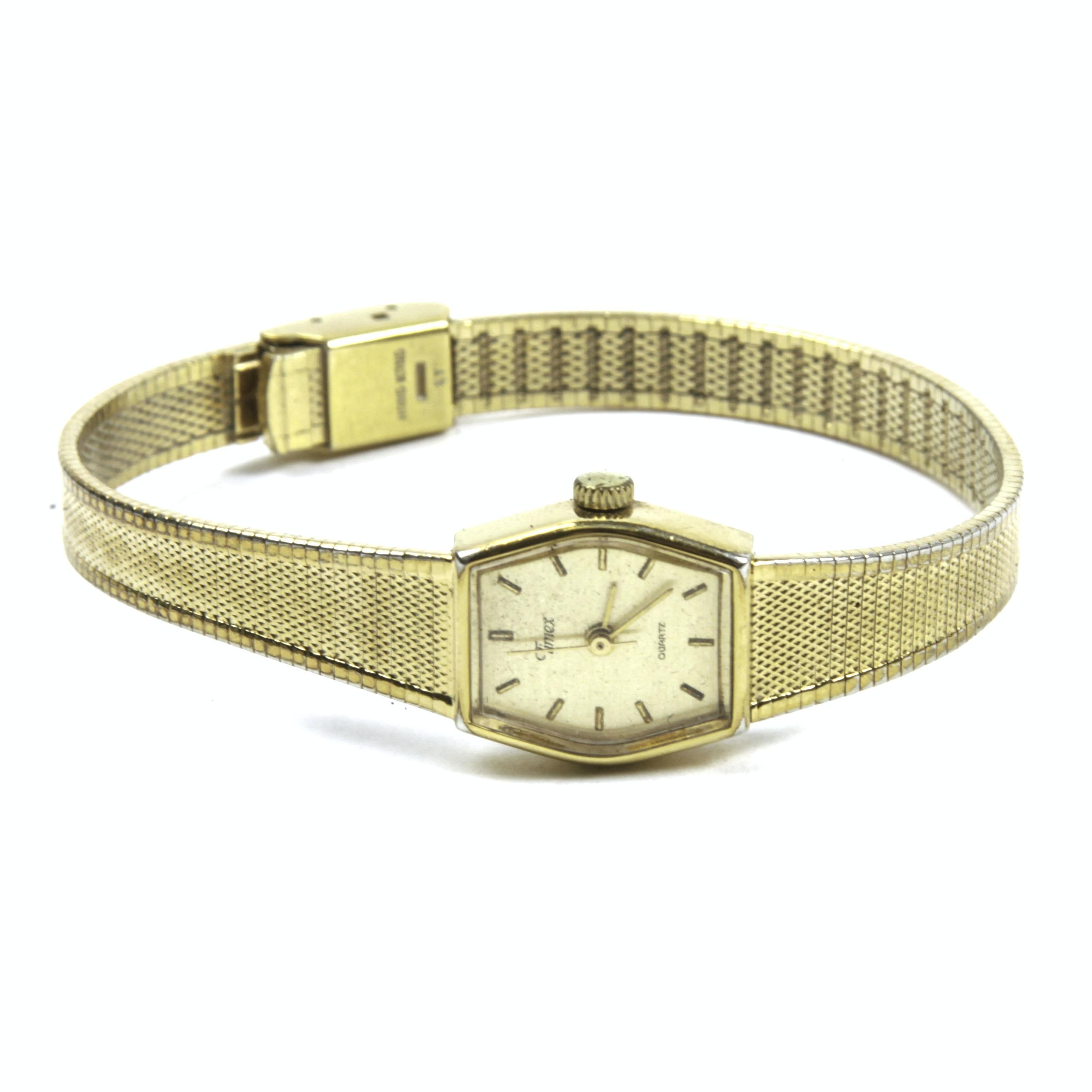 Vintage Gold Tone Timex Wristwatch