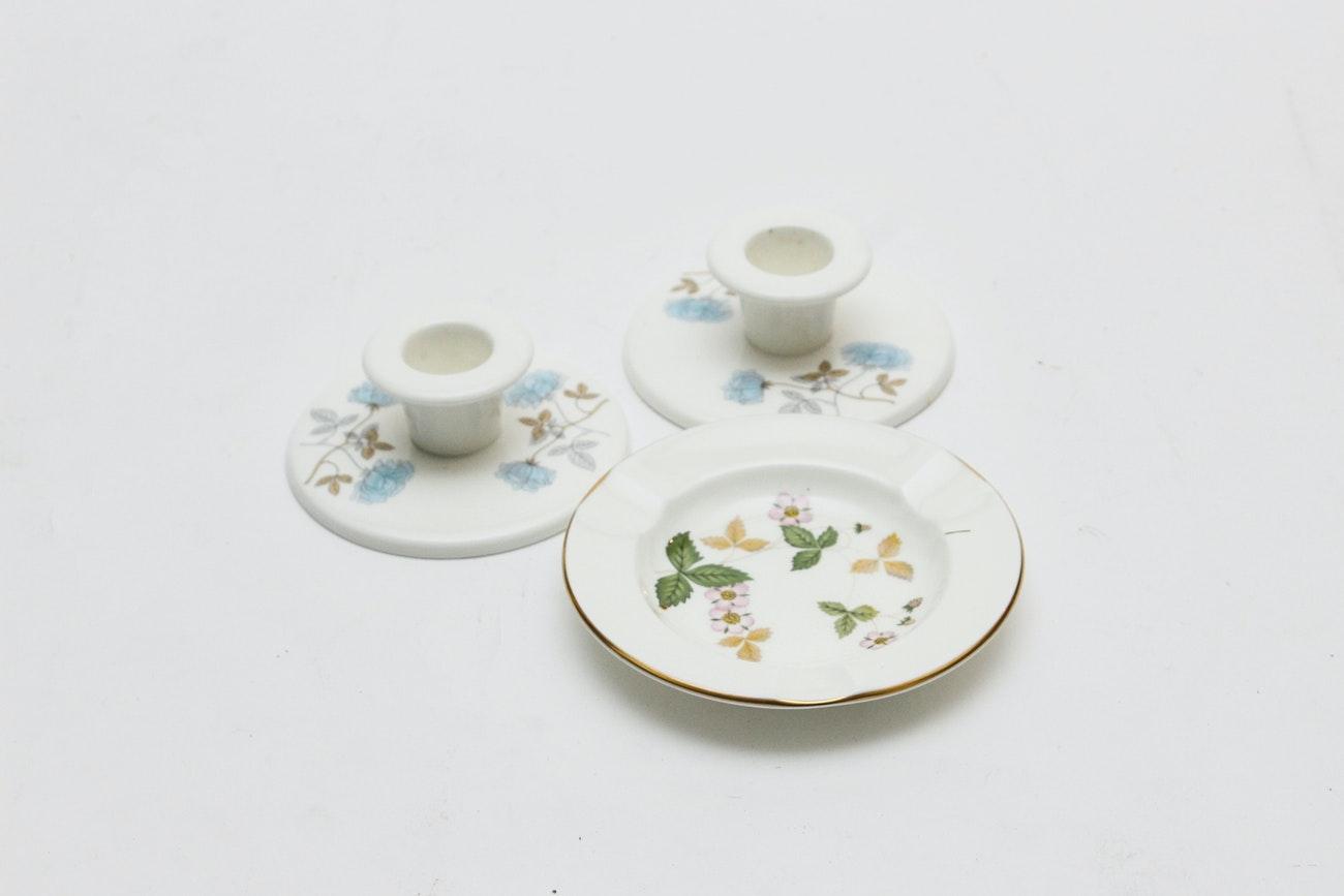 "Wedgwood Bone China Tableware including ""Wild Strawberry"""