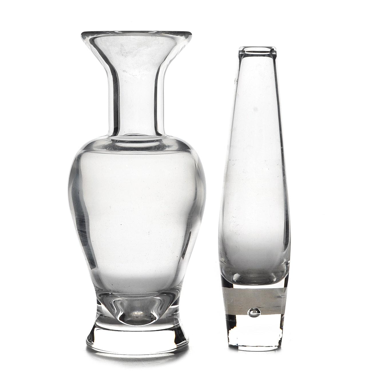 Pair of Steuben Crystal Vases