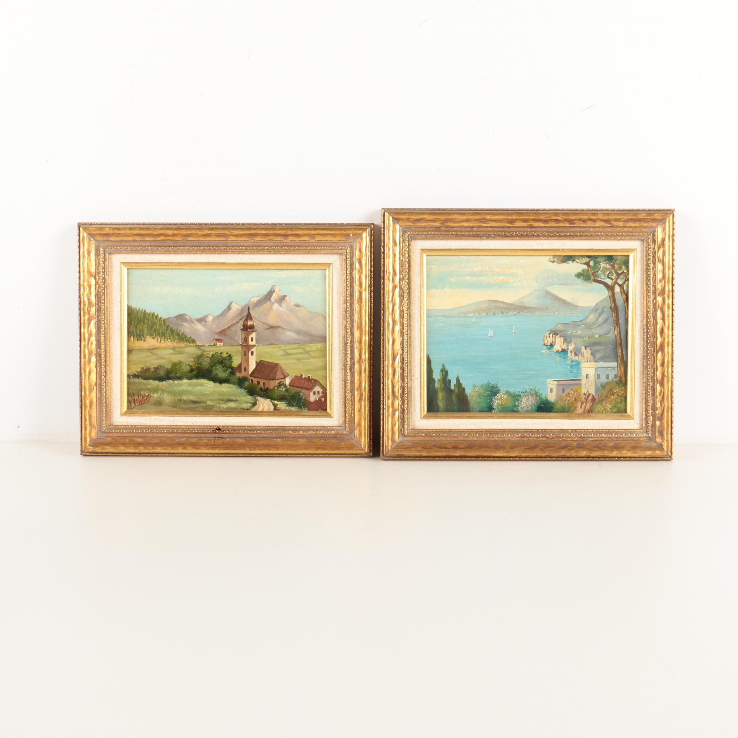Oil Paintings on Canvas of Mountain Views