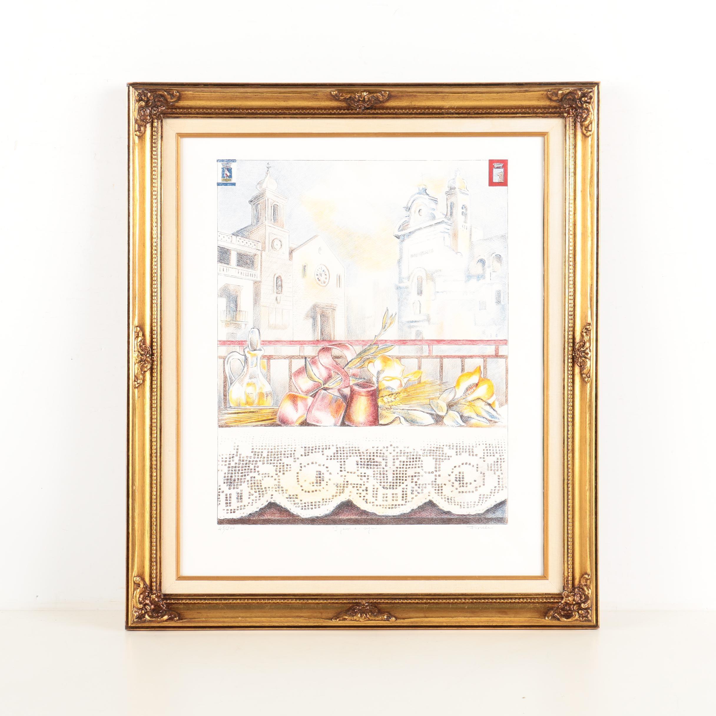 """Fiorelli Limited Edition Lithograph on Paper """"I Jouri e i Signi"""""""
