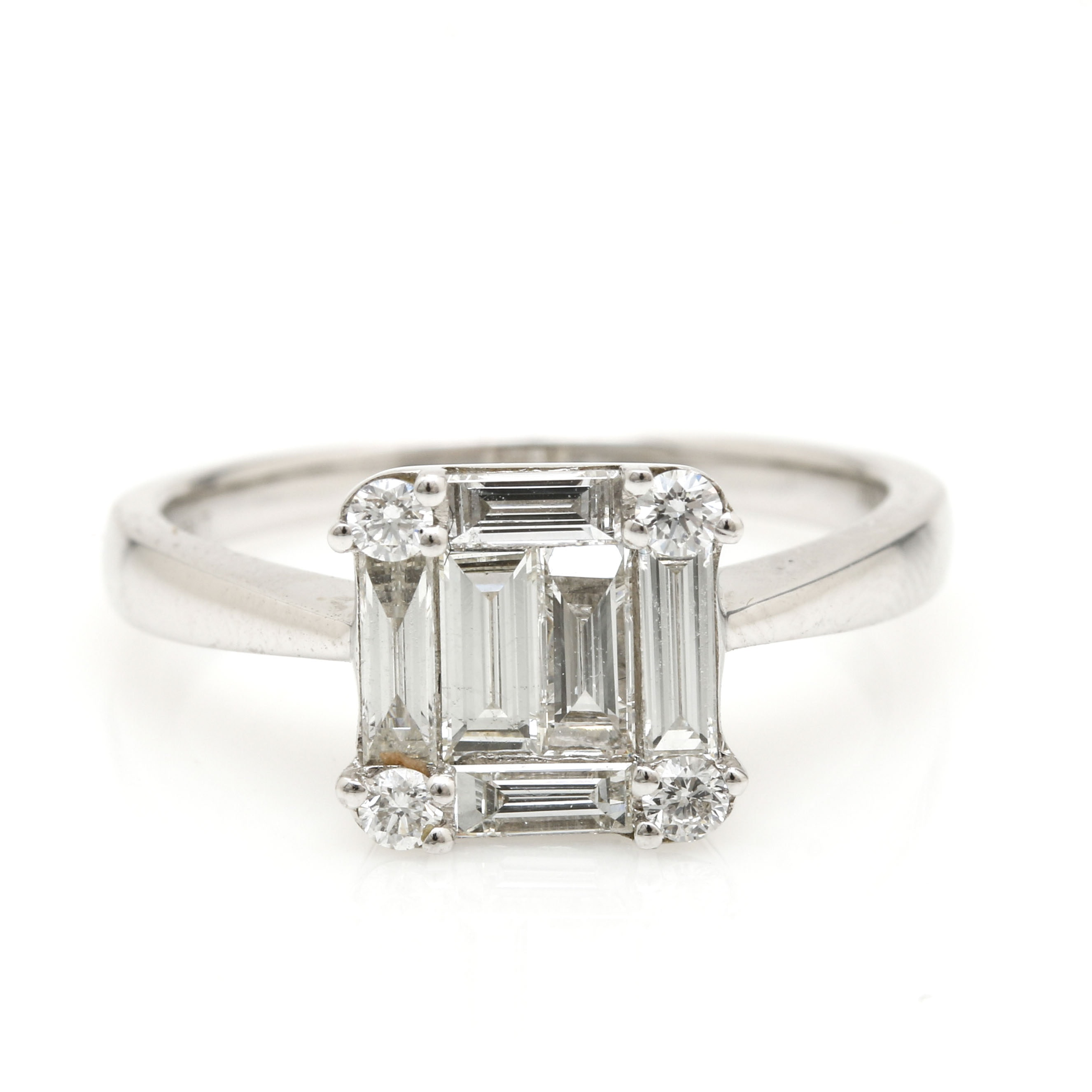 18K White Gold 1.07 CTW Diamond Ring