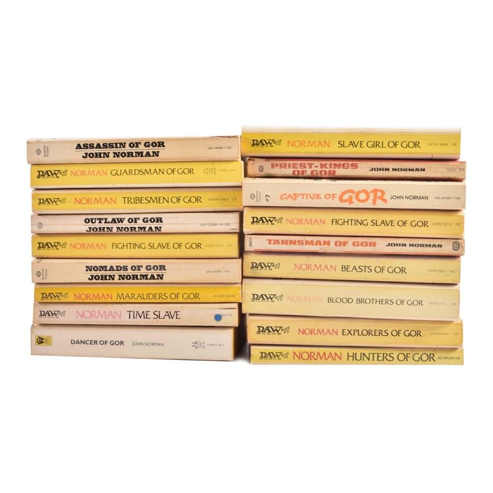 """Vintage Collection of John Norman """"Gor"""" Paperback Fantasy Novels"""