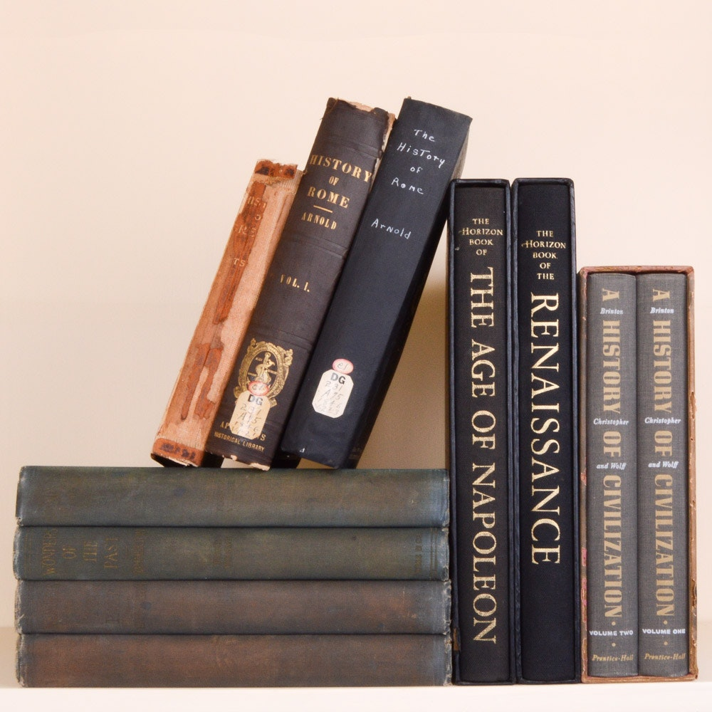 Vintage and Antique European History and TextBooks