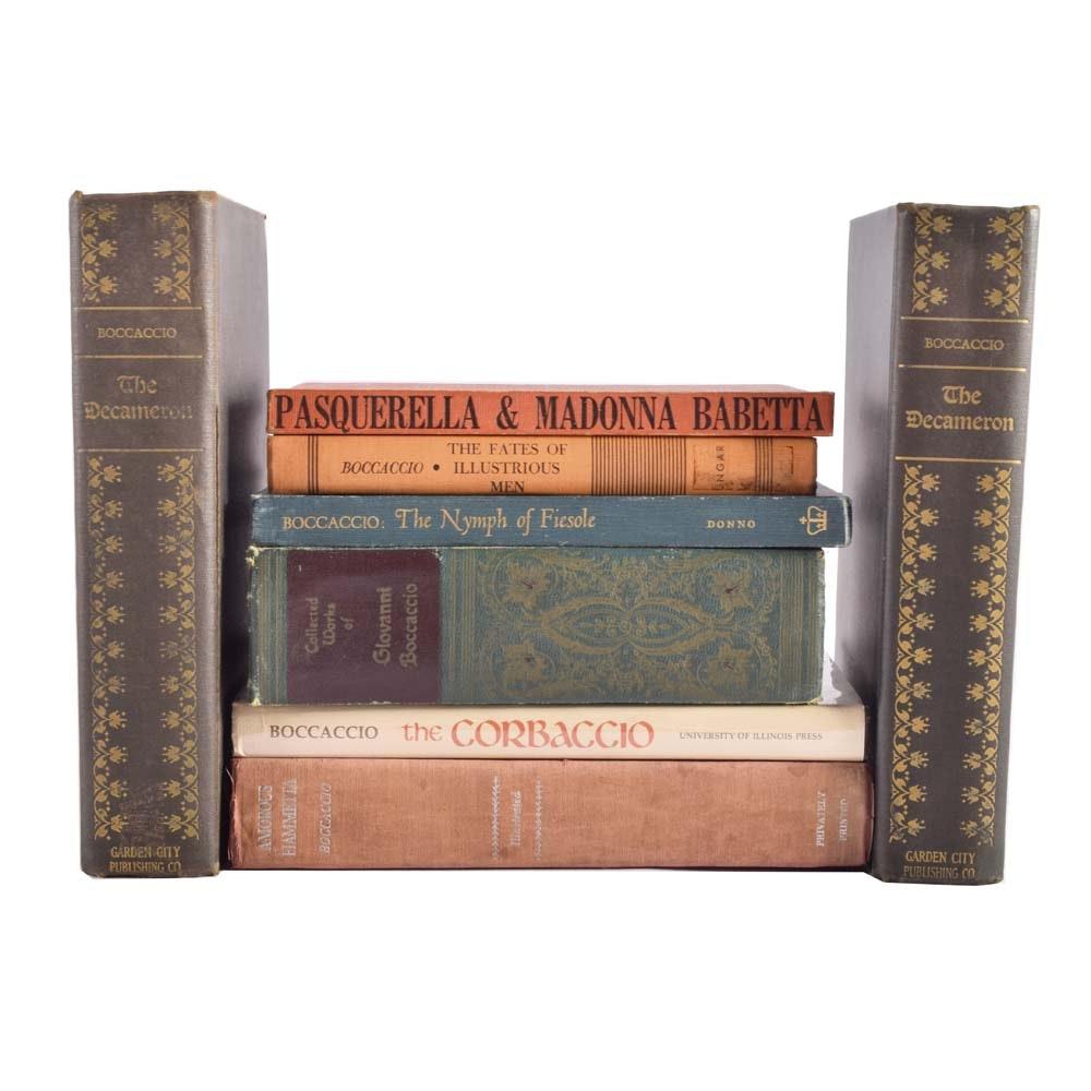 Vintage Collection of Giovanni Boccaccio Books