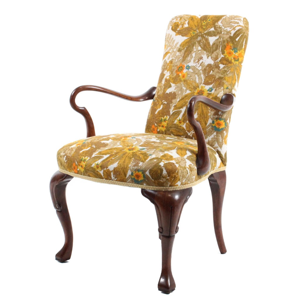 Vintage Goose-Neck Arm Chair