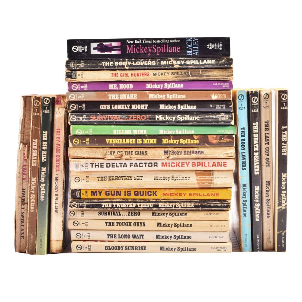 Collection of Mickey Spillane Paperback Novels