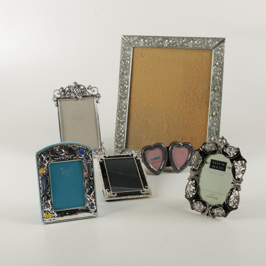 Assortment of Picture Frames with Swarovski Crystals and Sterling ...