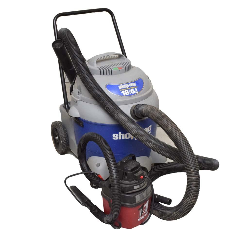Shop Vac Contractor Series 18 Gallon and 500X 1 Gallon Vacuum