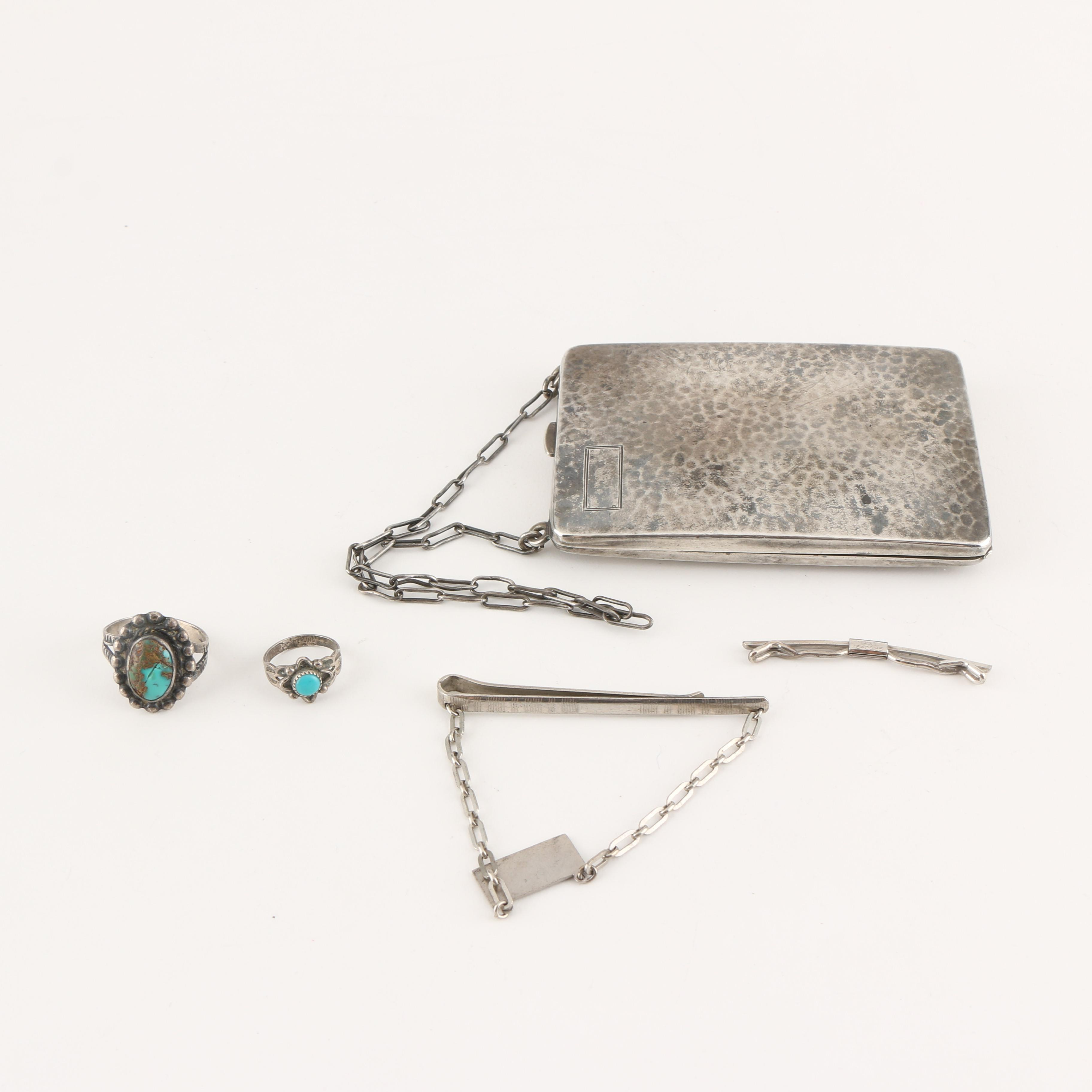 Sterling Silver Jewelry Assortment Featuring Vintage Coin Purse