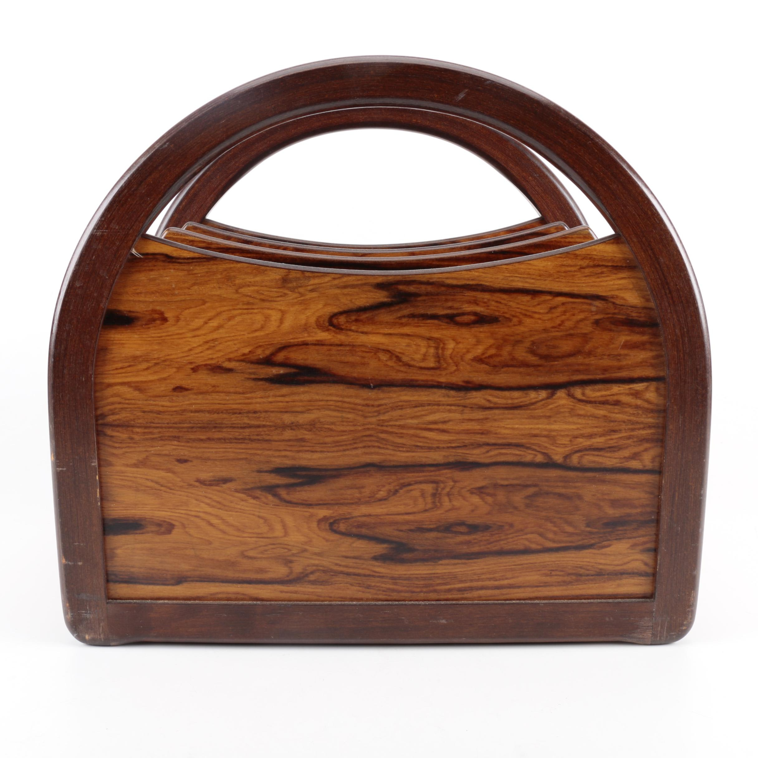 Norwegian Rosewood Magazine  Rack by Bruksbo