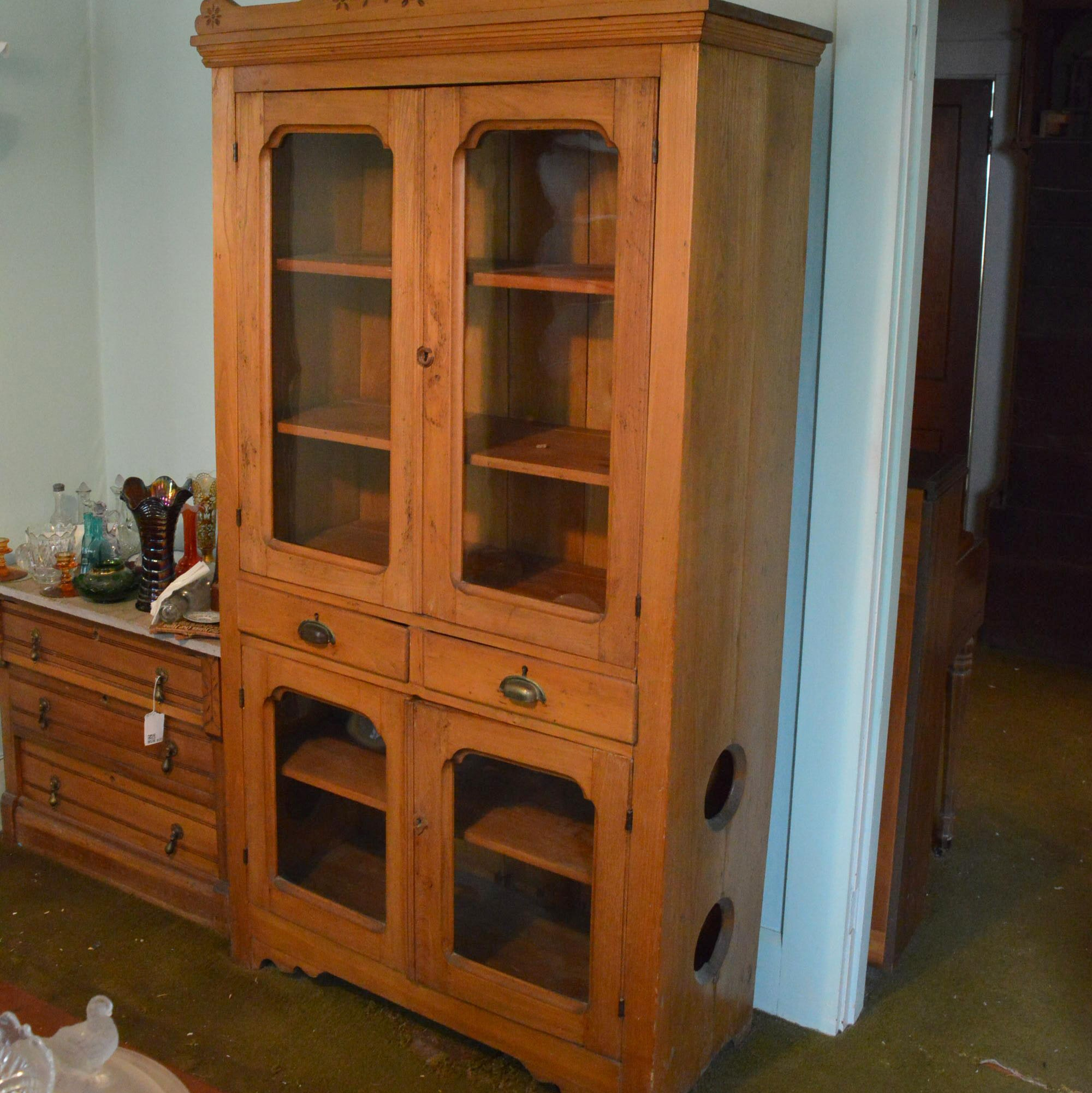 Eastlake Style China Display Cabinet