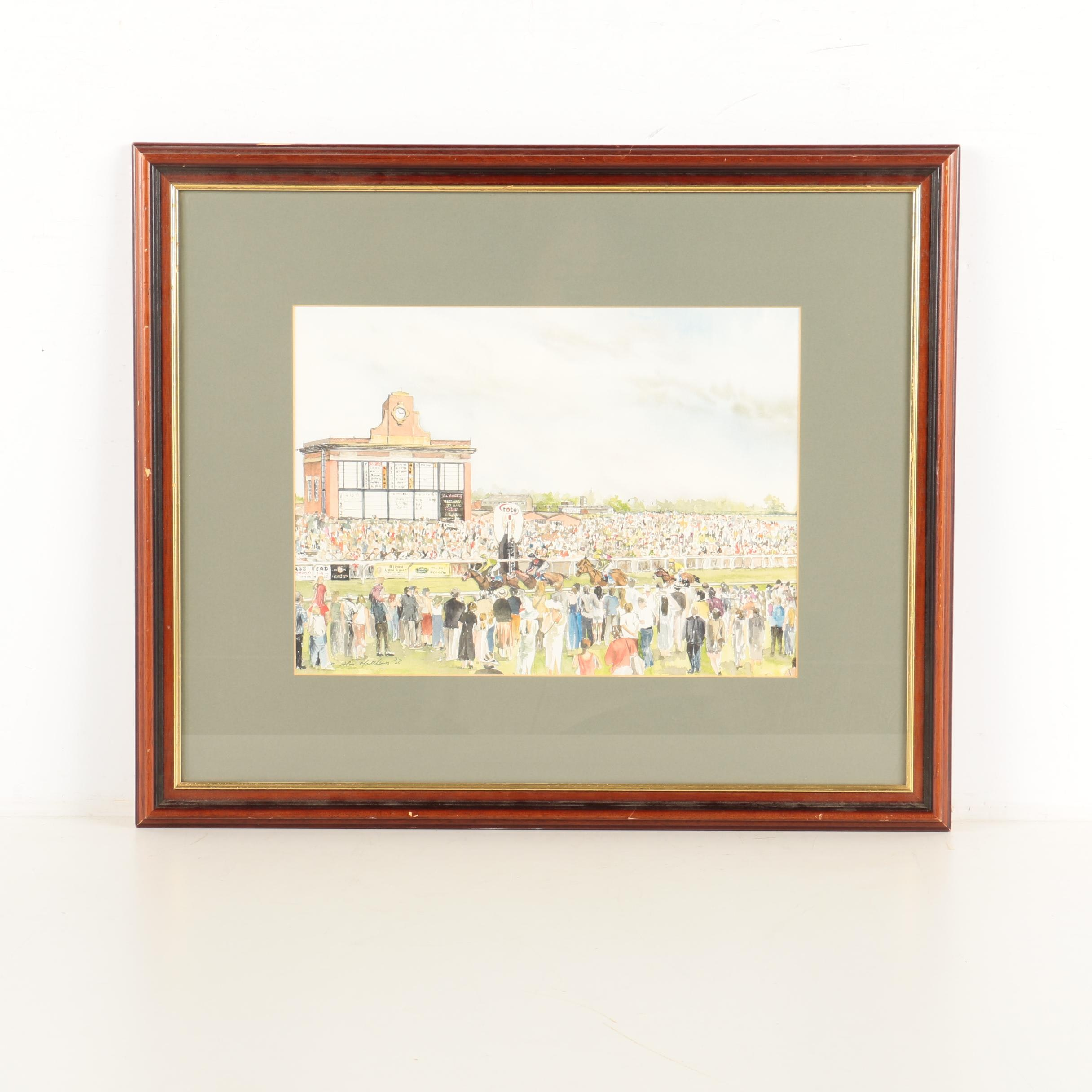 Alan Matthews Limited Edition Giclee on Paper of a Horse Race