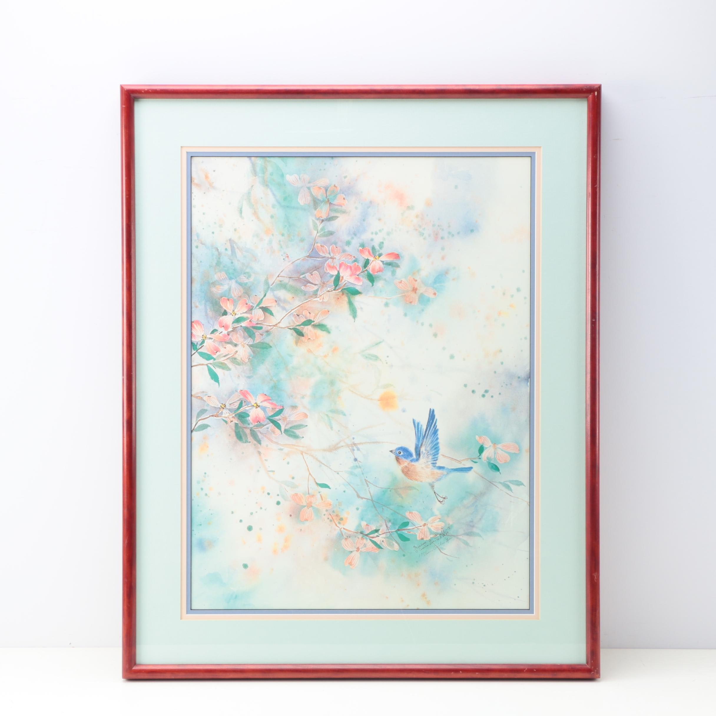 """Cecelia Lin Limited Edition Offset Lithograph """"Freedom in Flight ll"""""""
