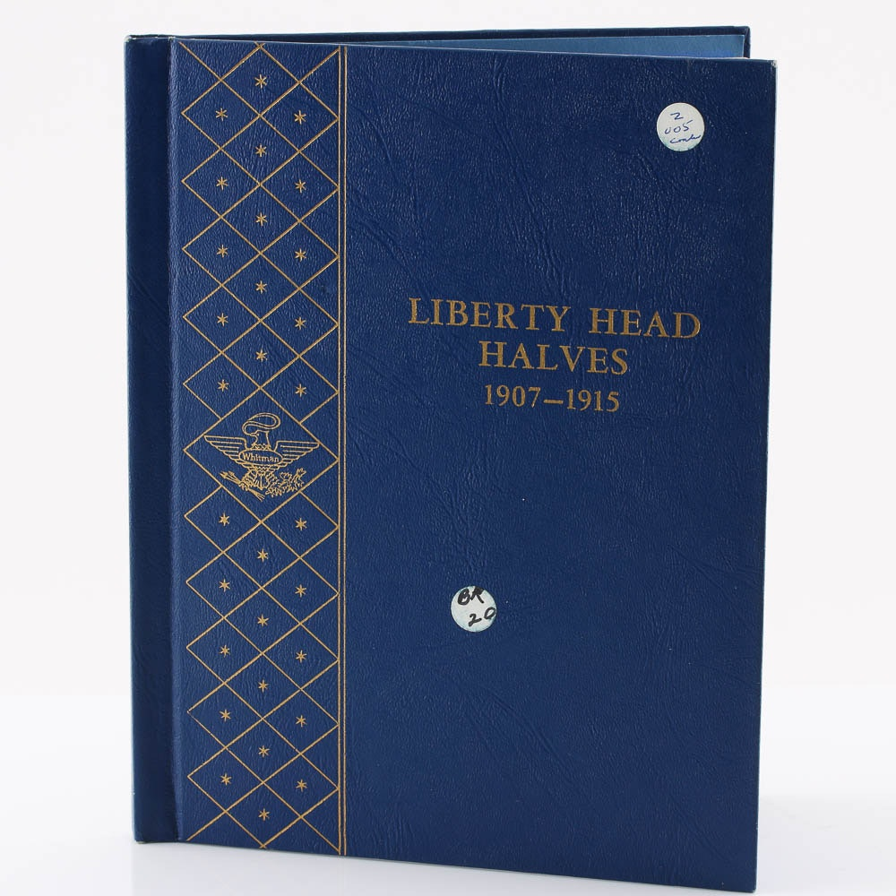 Liberty Head Silver Half Dollar Collection from 1907 - 1915
