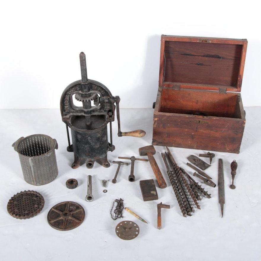 Vintage Enterprise Mfg Co Press And Tools Ebth