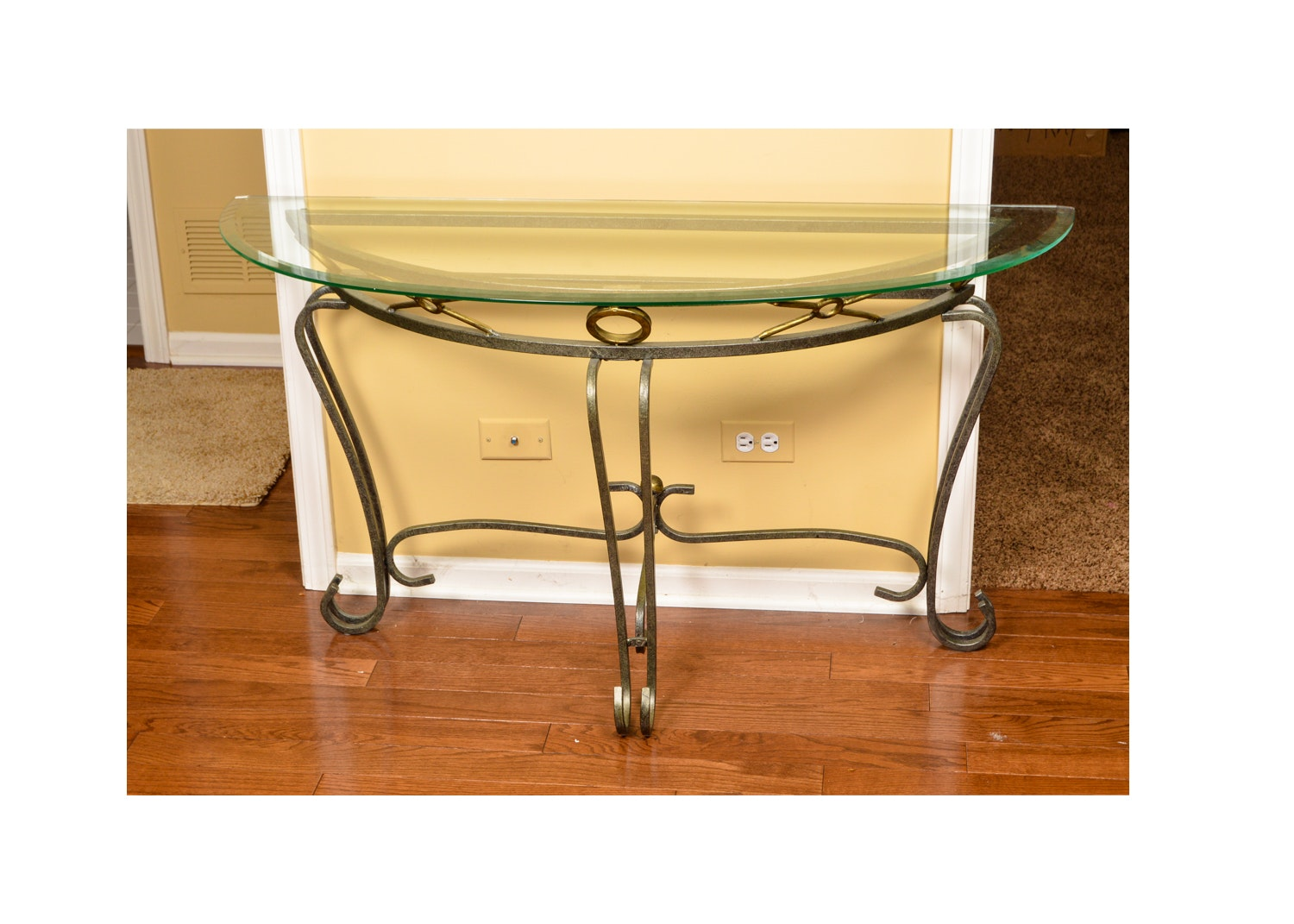 Delightful Demilune Console Table