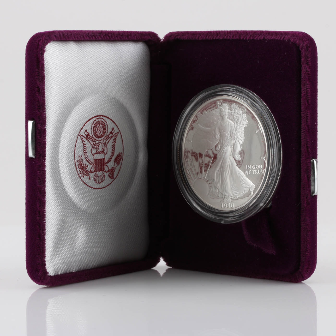 1990-S One Dollar U.S. Silver Eagle Proof Coin