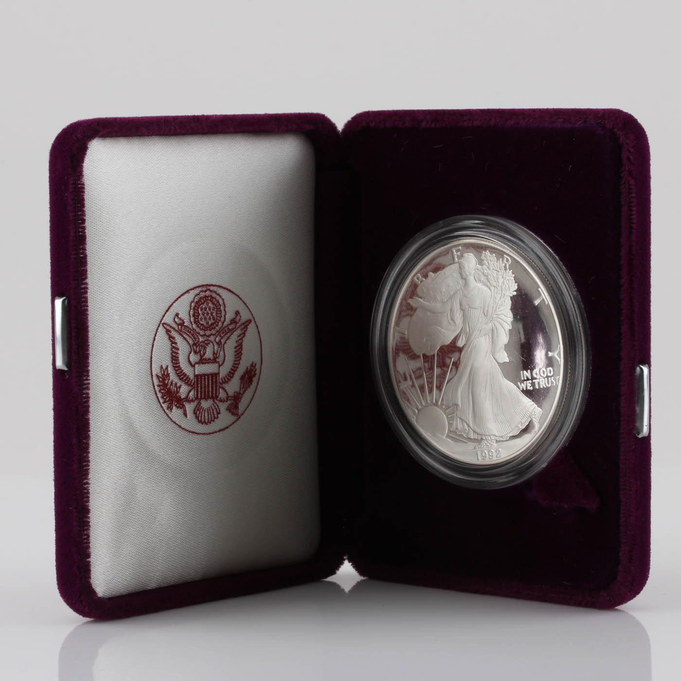 1992-S One Dollar U.S. Silver Eagle Proof Coin