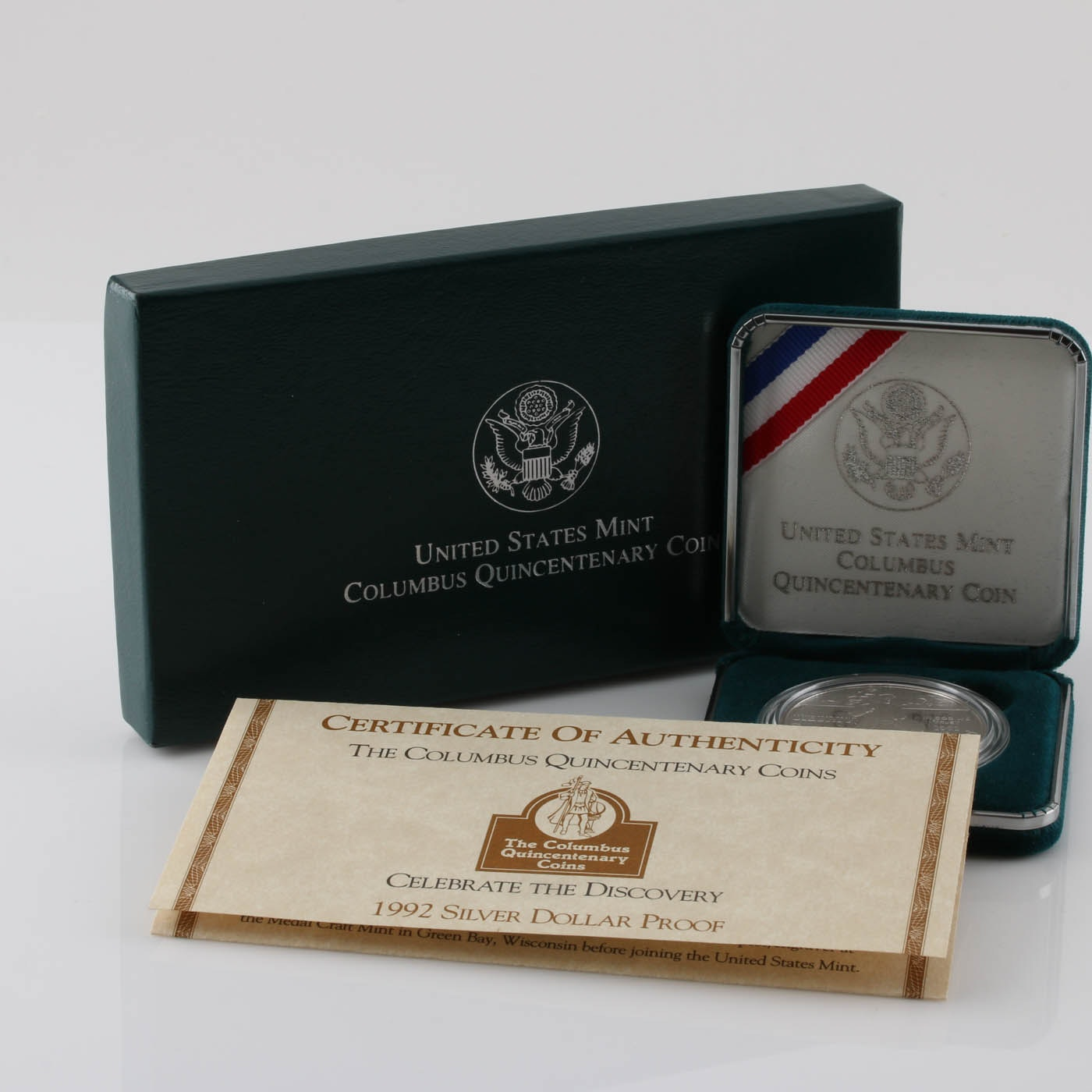 1992-P Columbus Quincentenary Commemorative One Dollar Silver Proof Coin