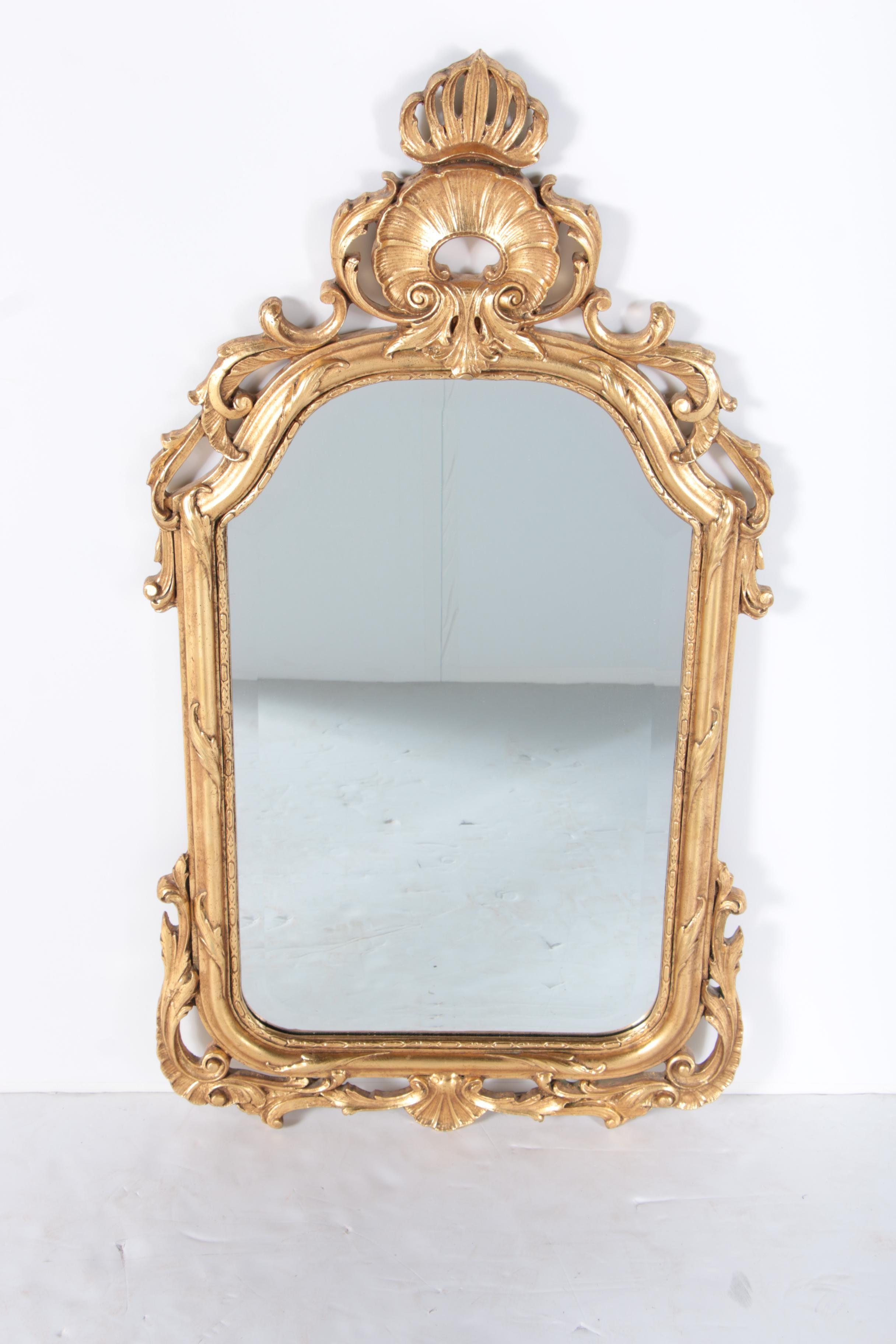 Ornately Framed Beveled Wall Mirror by Jon Rochelle
