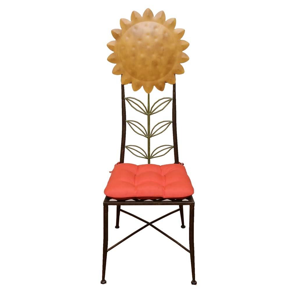 Metal Sunflower Chair