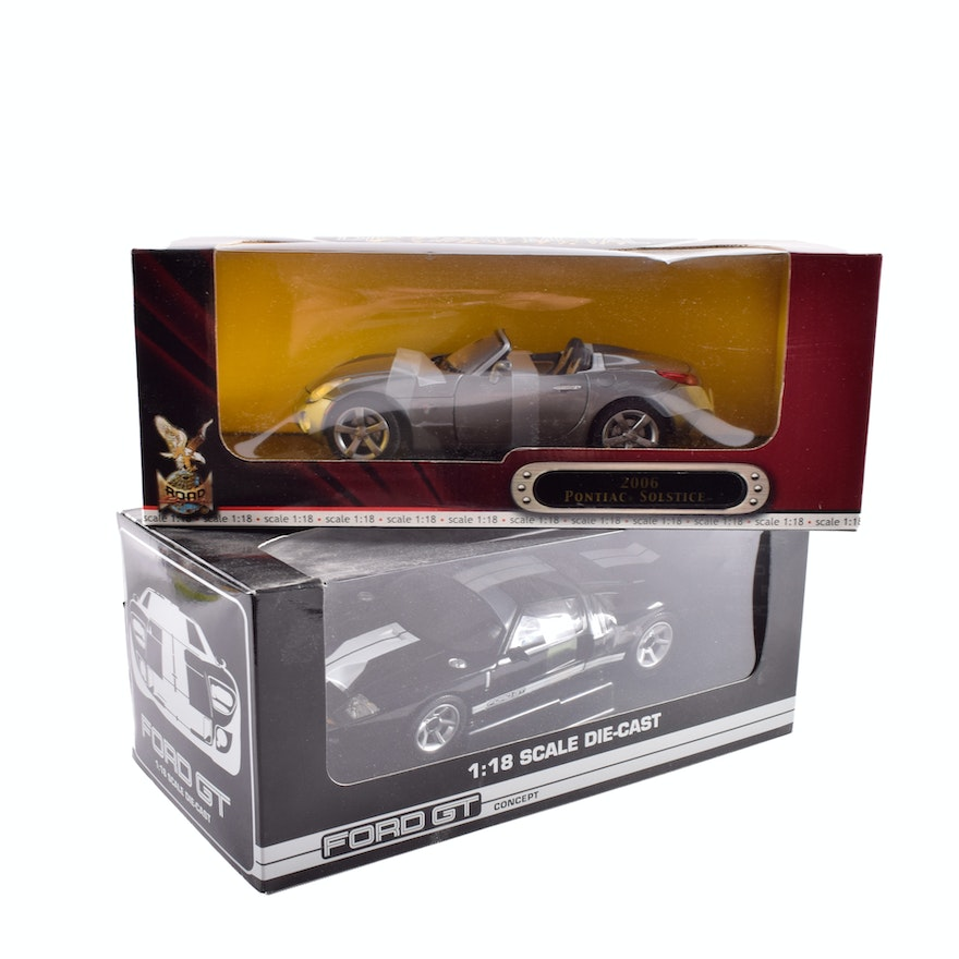 Cast Cars Ford Gt And 2006 Pontiac Solstice