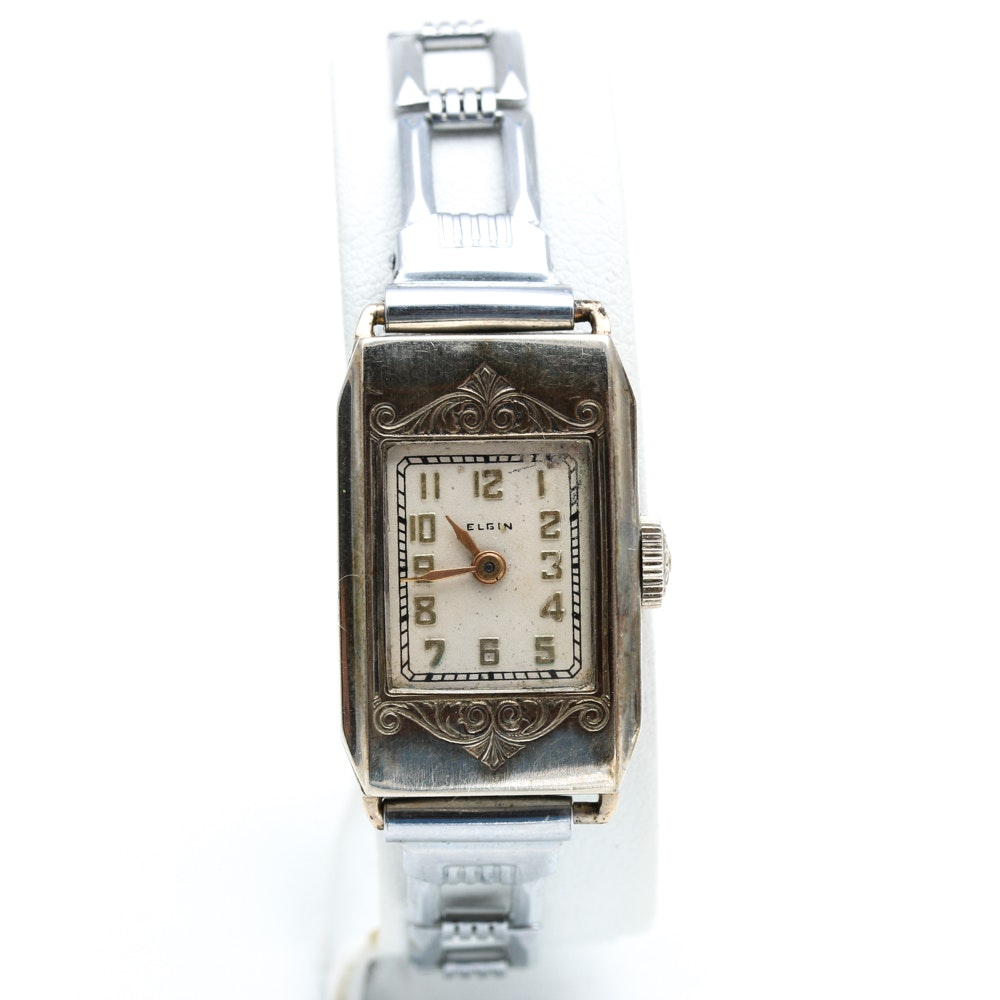 Vintage Elgin 14K Gold Filled Wristwatch