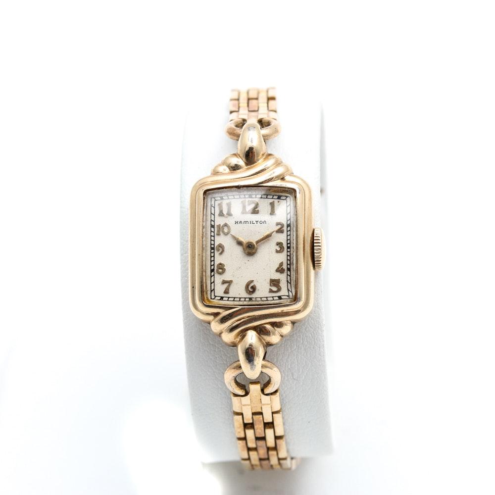 Hamilton 14K Gold Filled Wristwatch