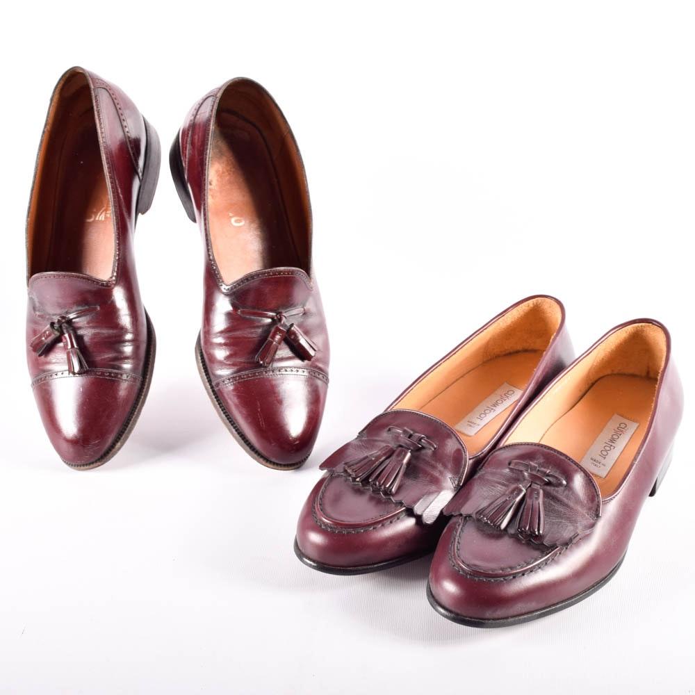 Men's Italian Leather Dress Shoes Featuring Salvatore Ferragamo