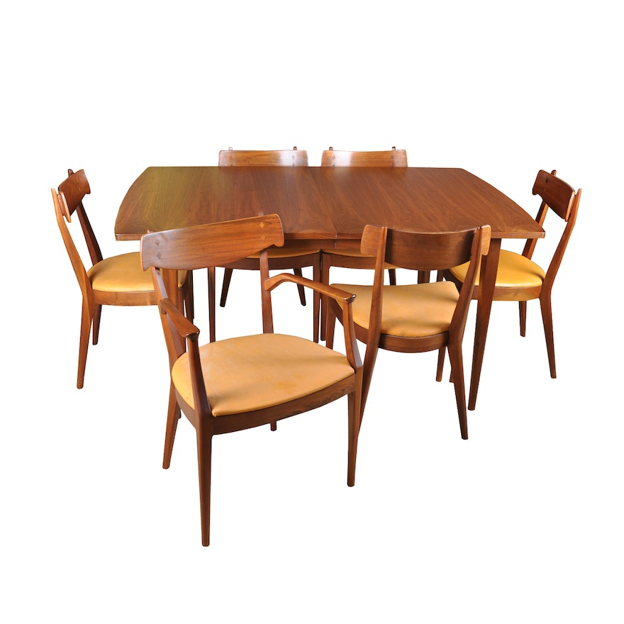 Mid Century Modern Declaration Dining Table And Chairs By Drexel