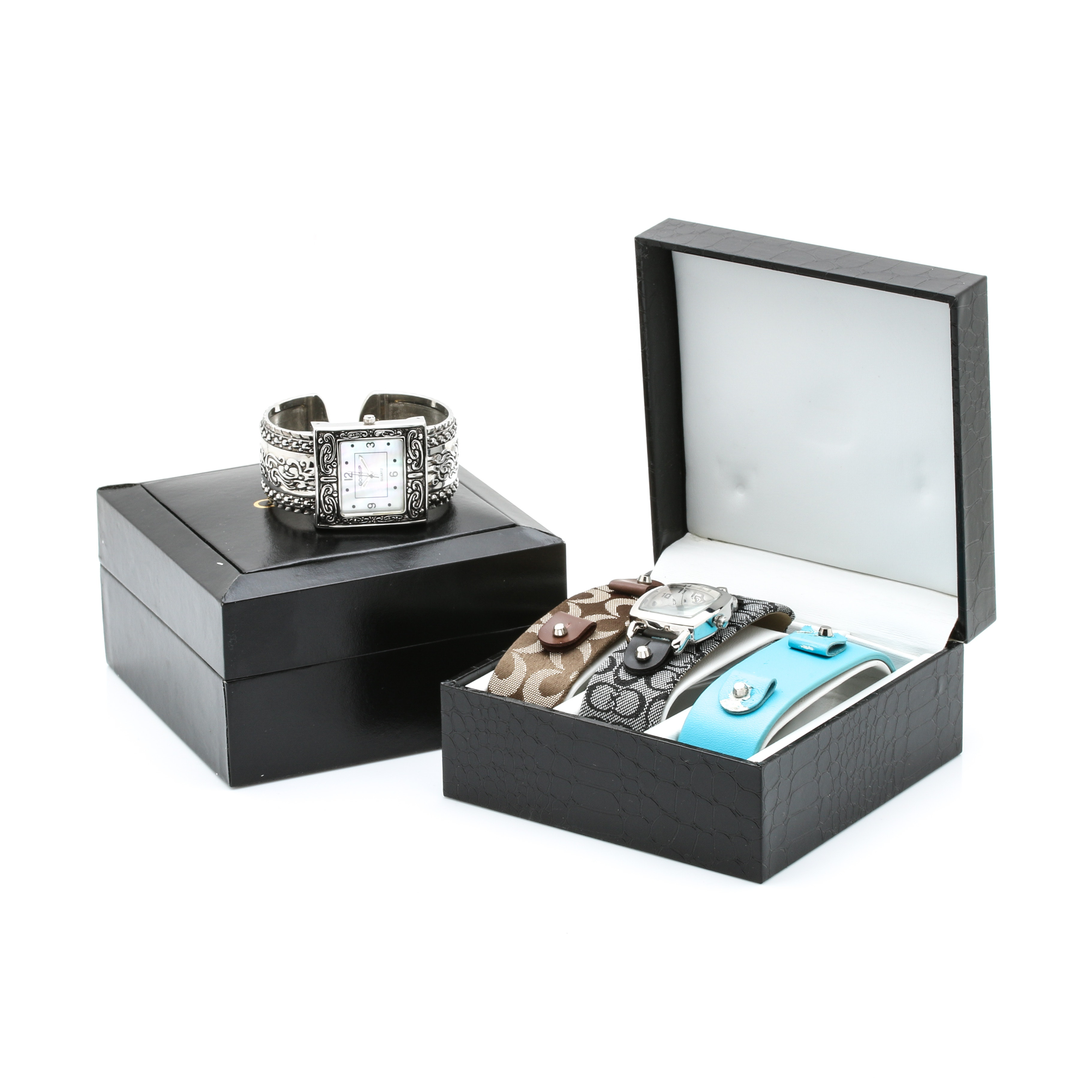Selection of Wristwatches Including Vivani and Gossip
