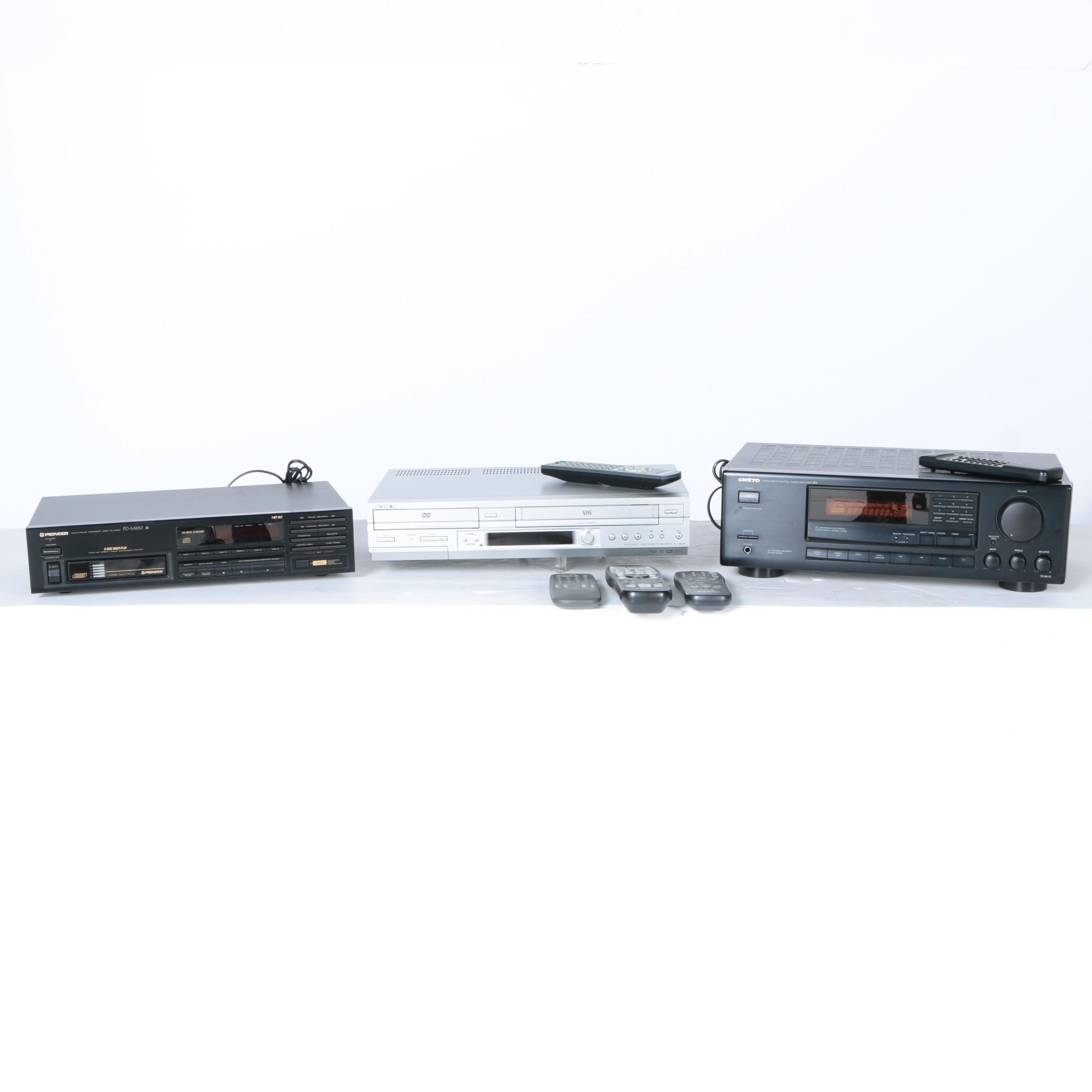 Pioneer and Sony Stereo Components