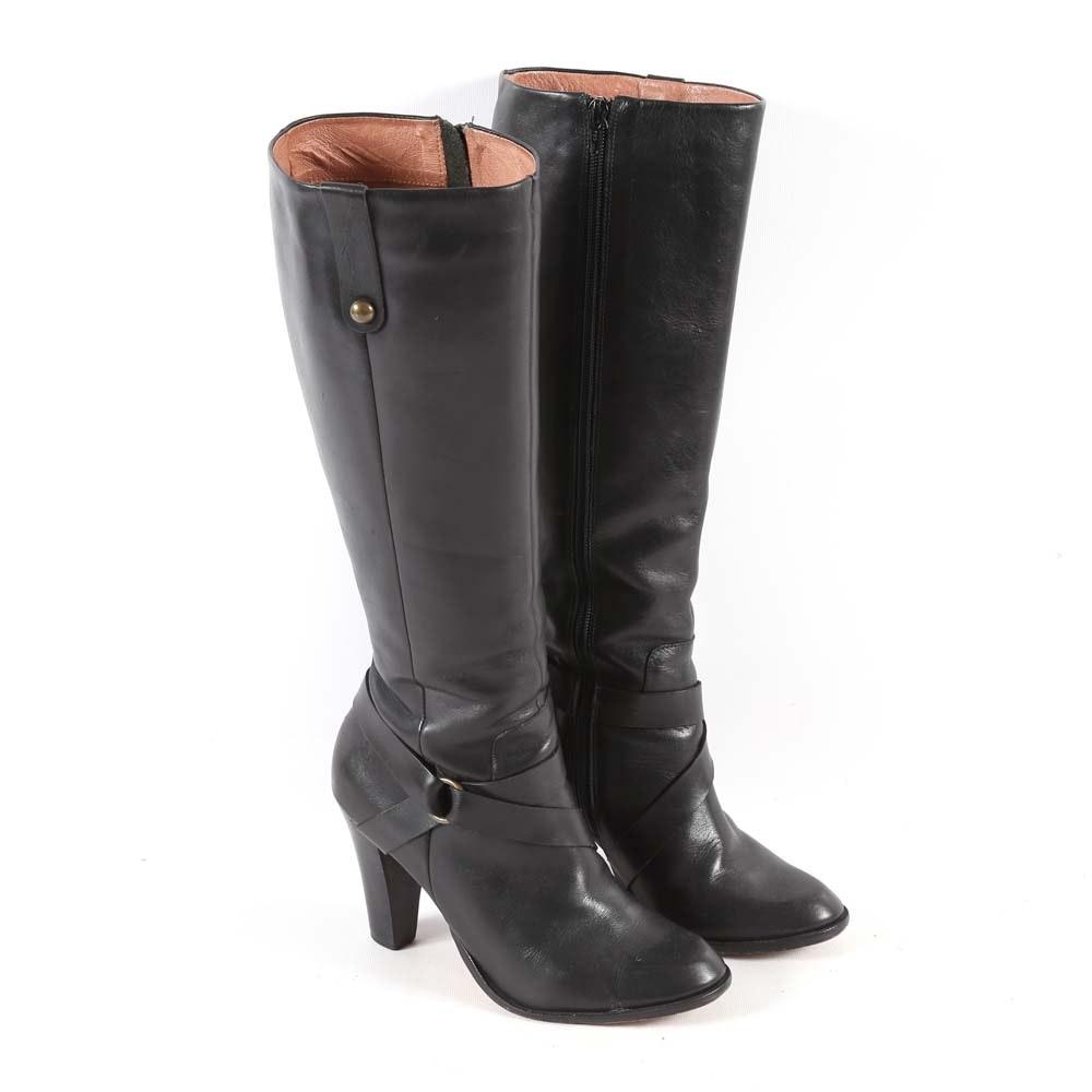 Women's Corso Como Black Leather Boots