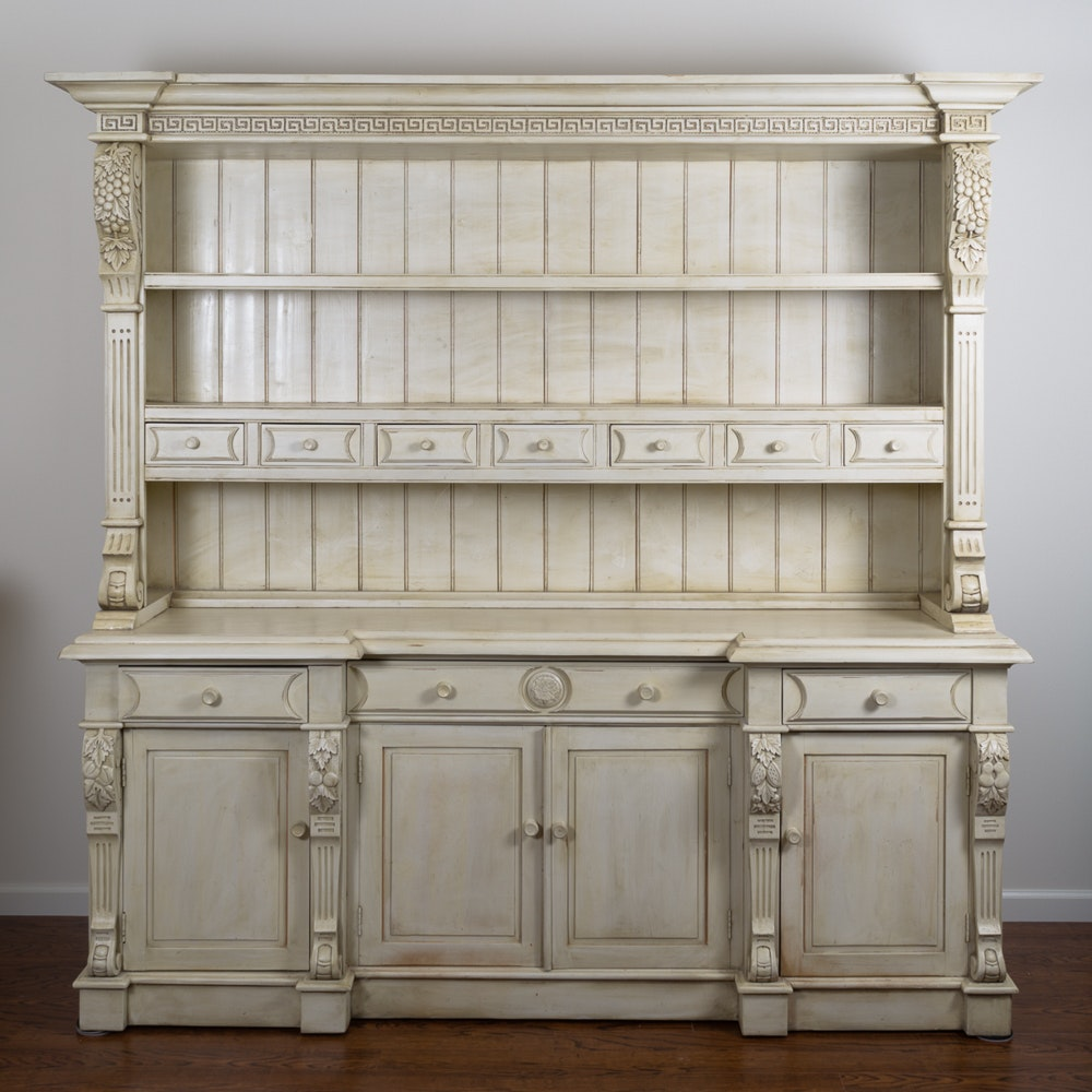 French Country Style China Cabinet ...