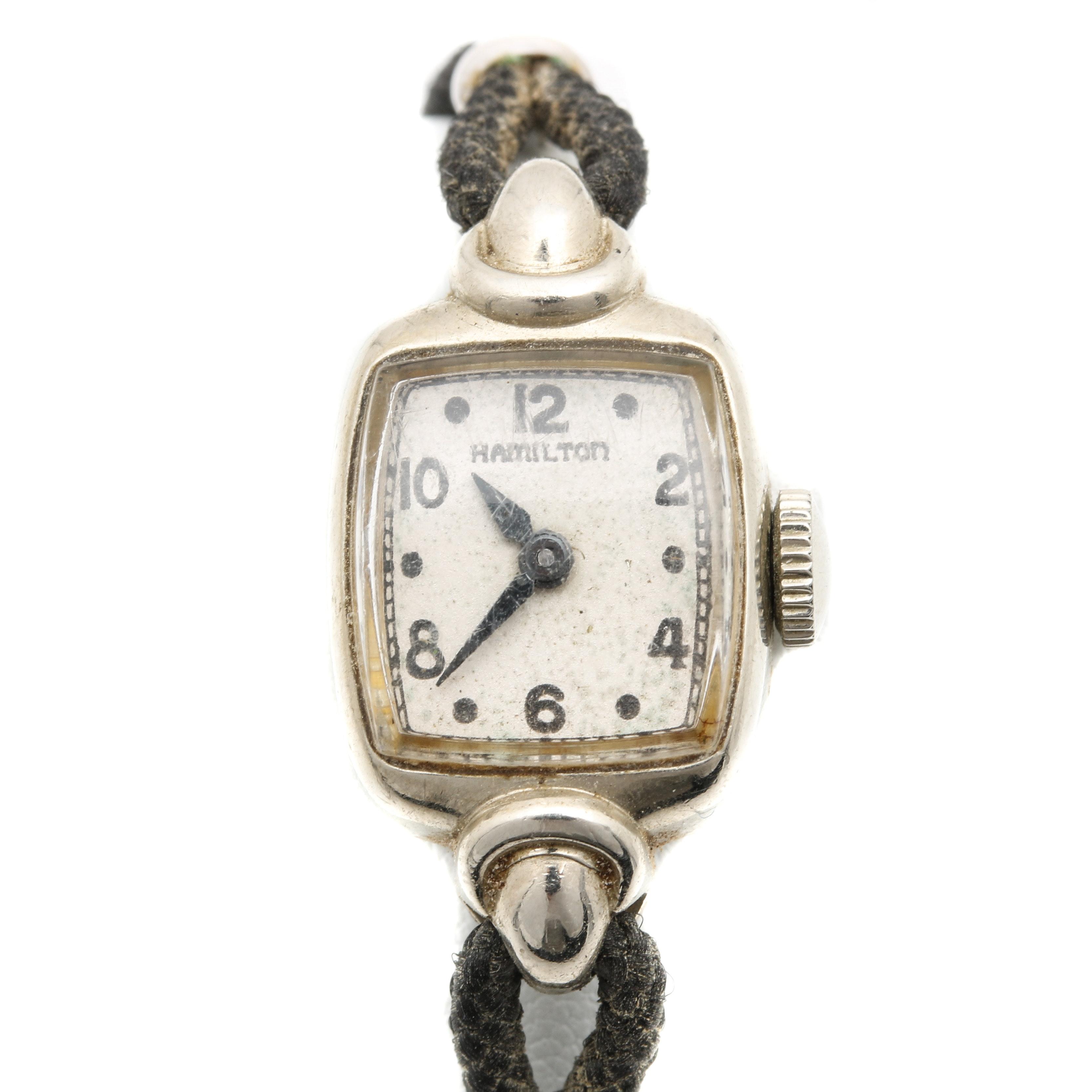 Hamilton 14K White Gold Wristwatch