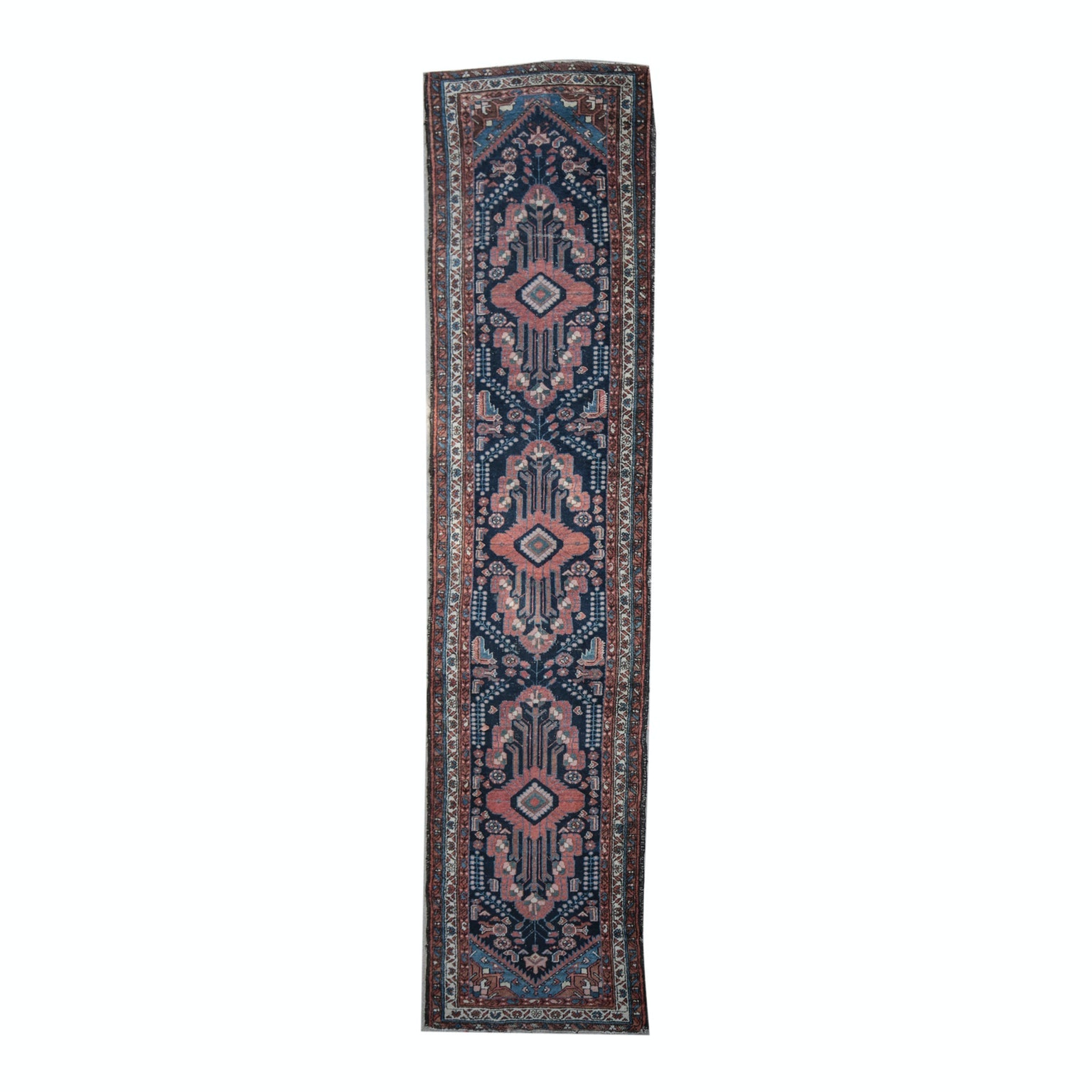 Semi-Antique to Vintage Hand-Knotted Kurdish Wool Carpet Runner