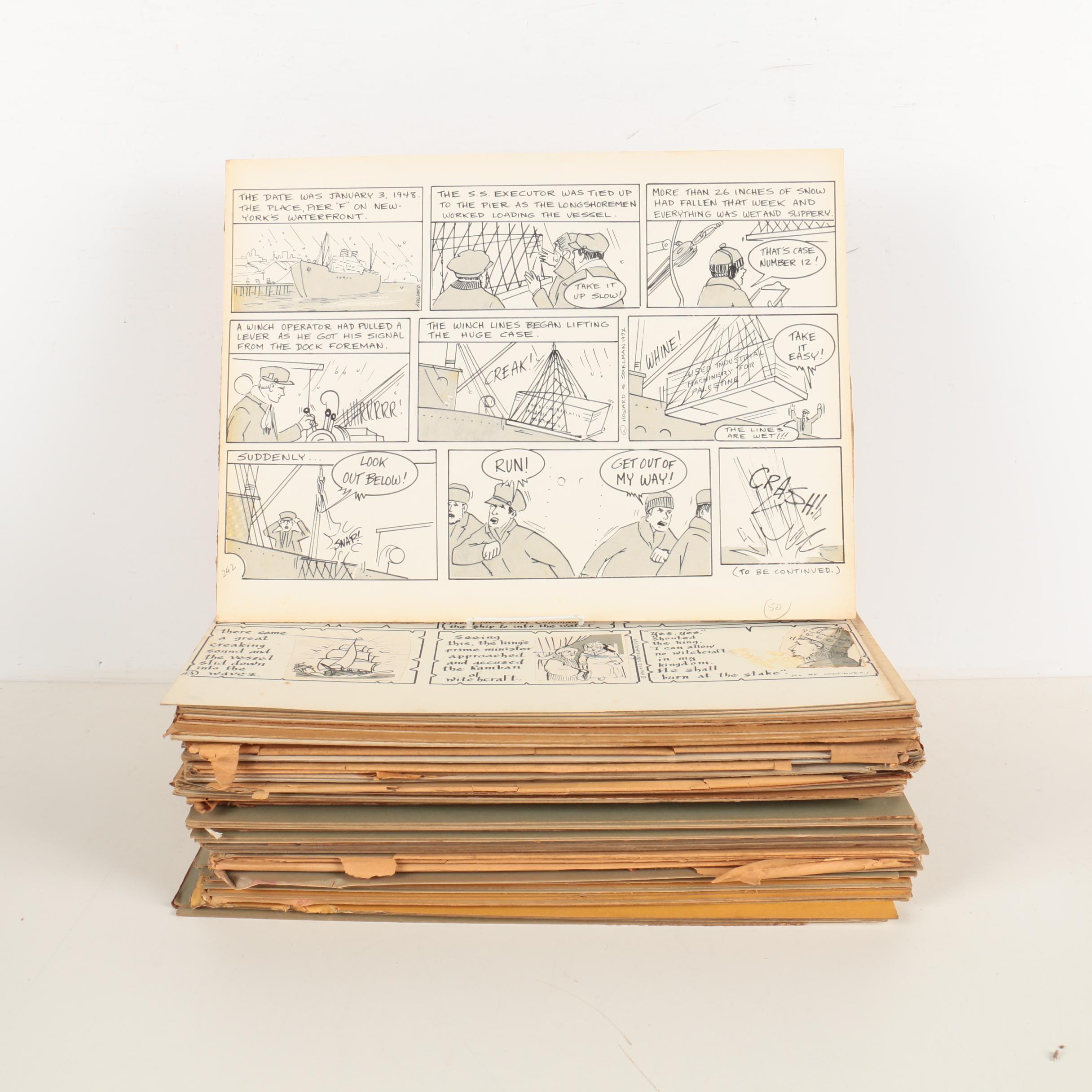 Arnold Fine and Howard Spielman Storyboard Panels