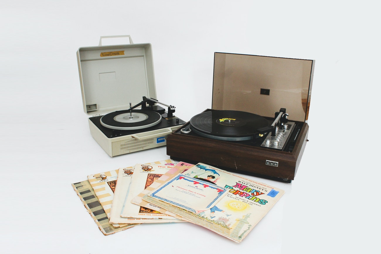 1970s Turntables and Vintage Children's Records