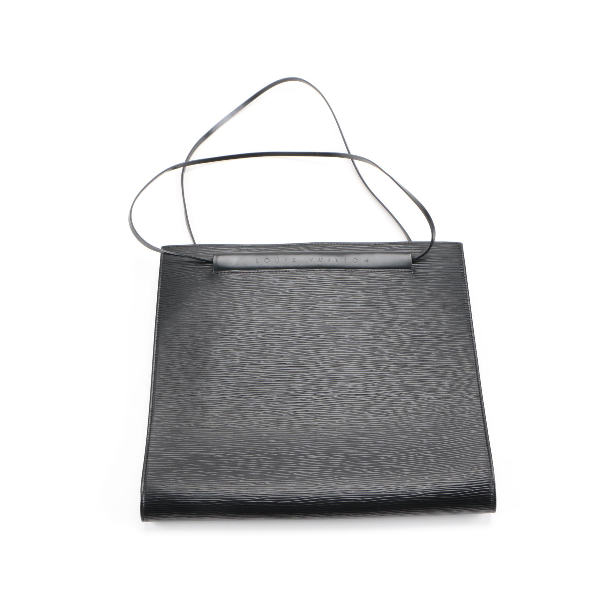 Louis Vuitton Black Epi Leather Saint Tropez Handbag