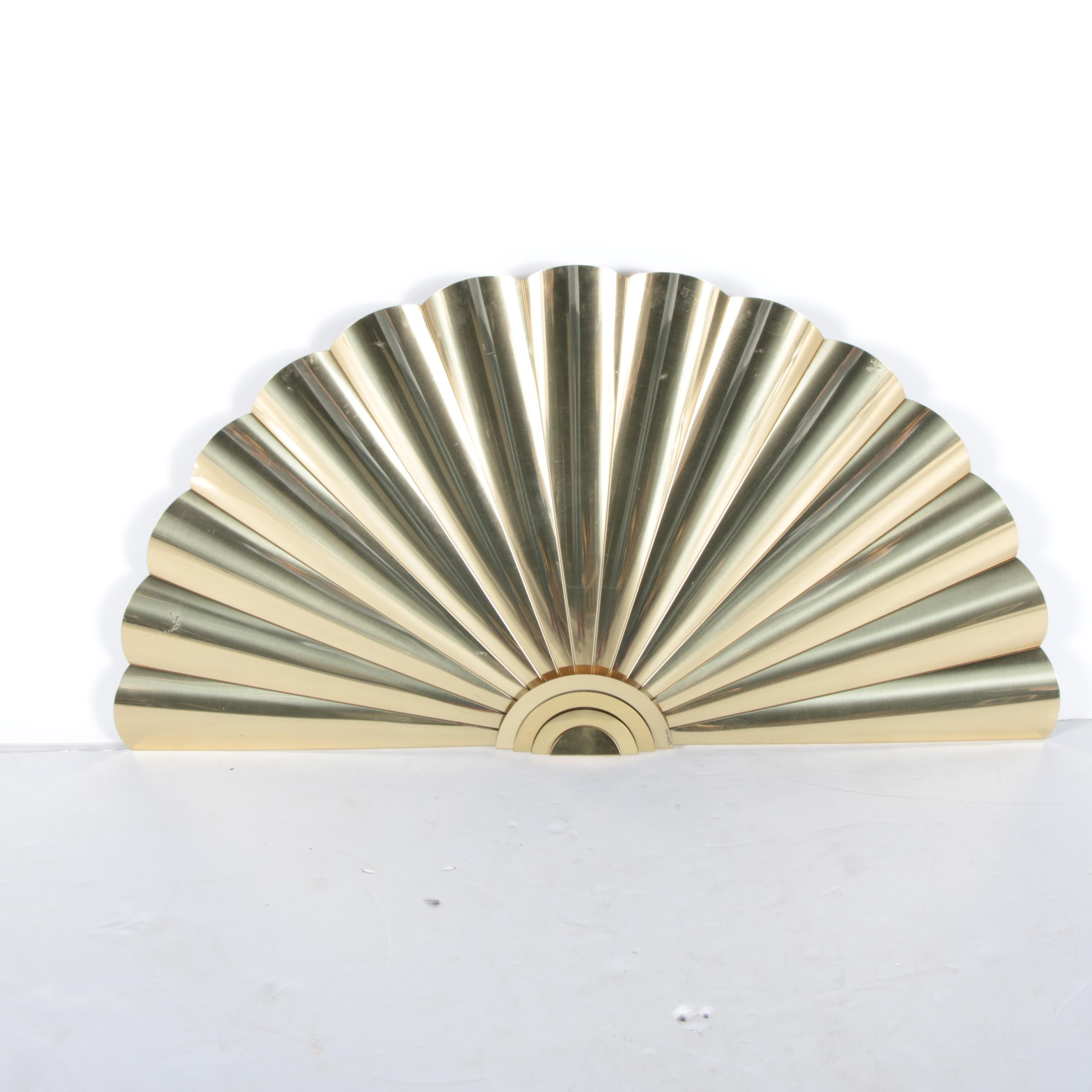 Brass Fan Wall Hanging