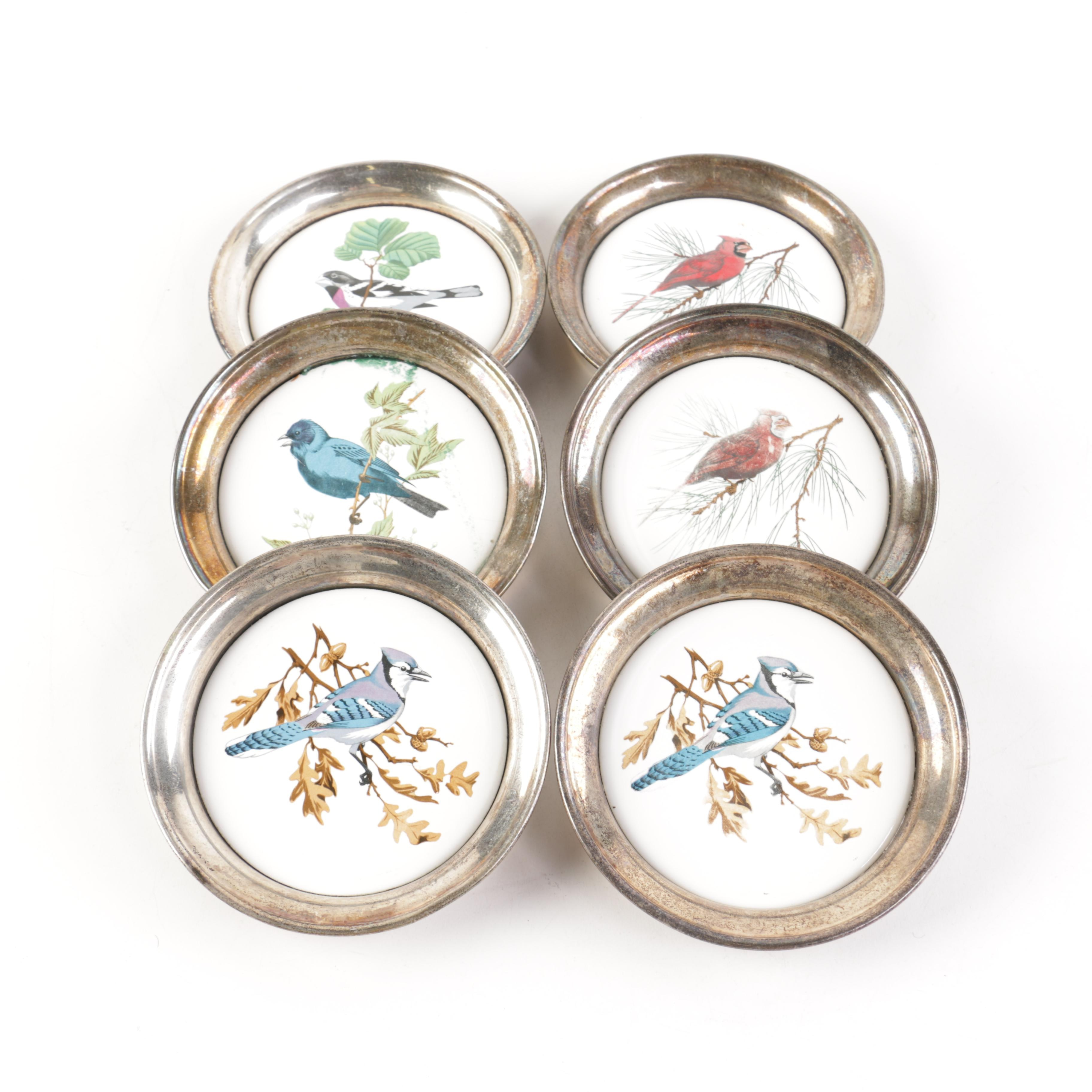 Sheridan Silver Plated Bird Themed Coasters