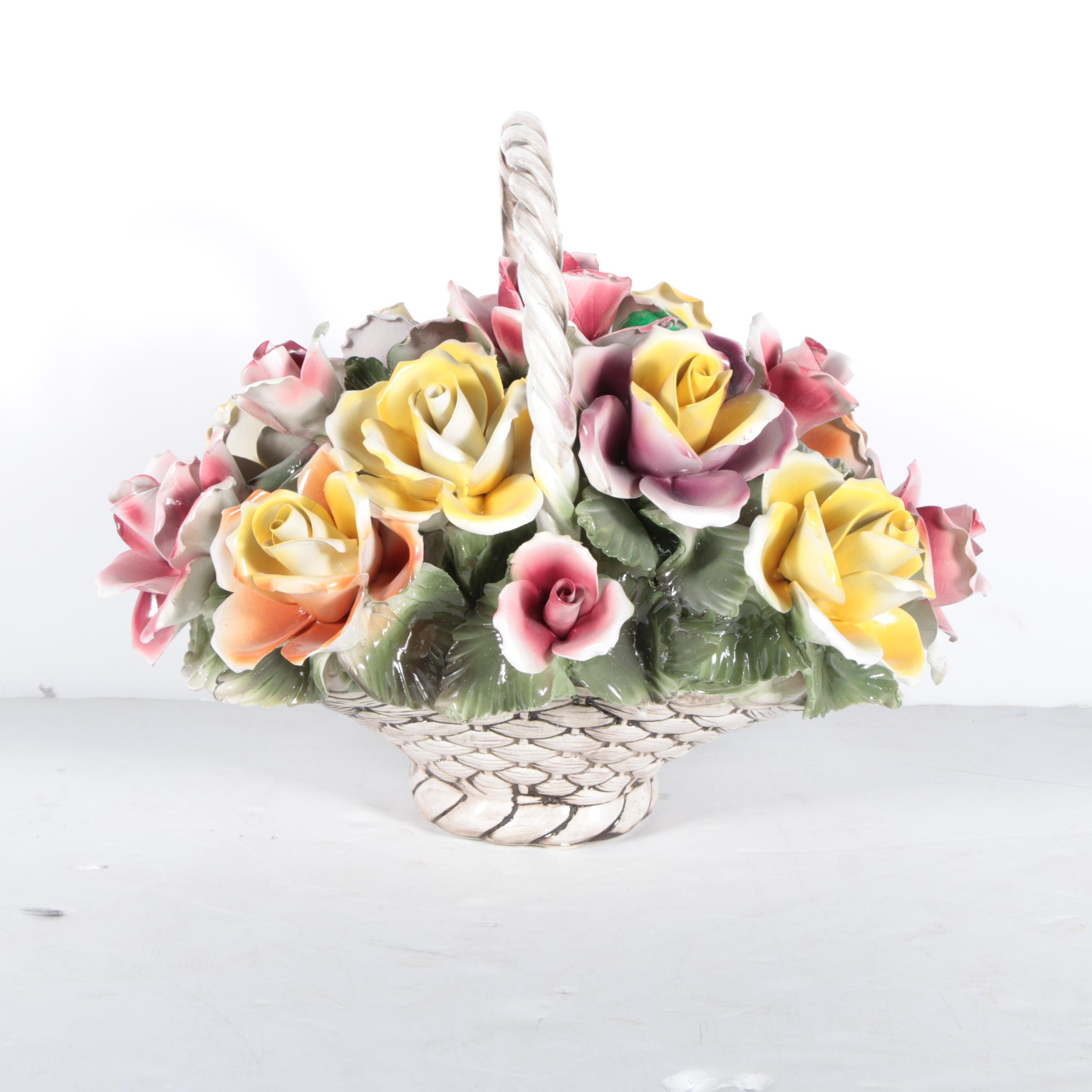 Capodimonte Style Flower Arrangement