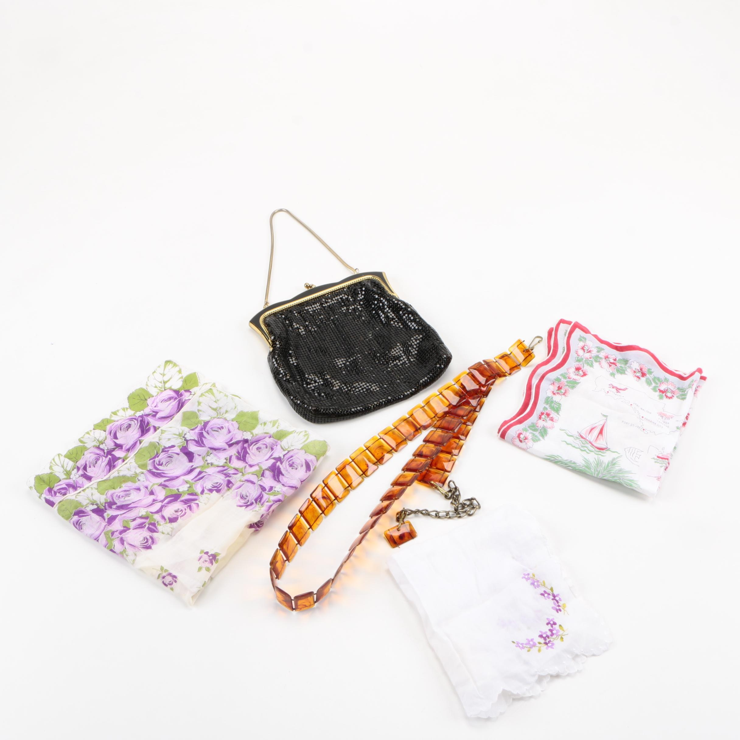 Assorted Accessories featuring Glomesh Black Mesh Handbag
