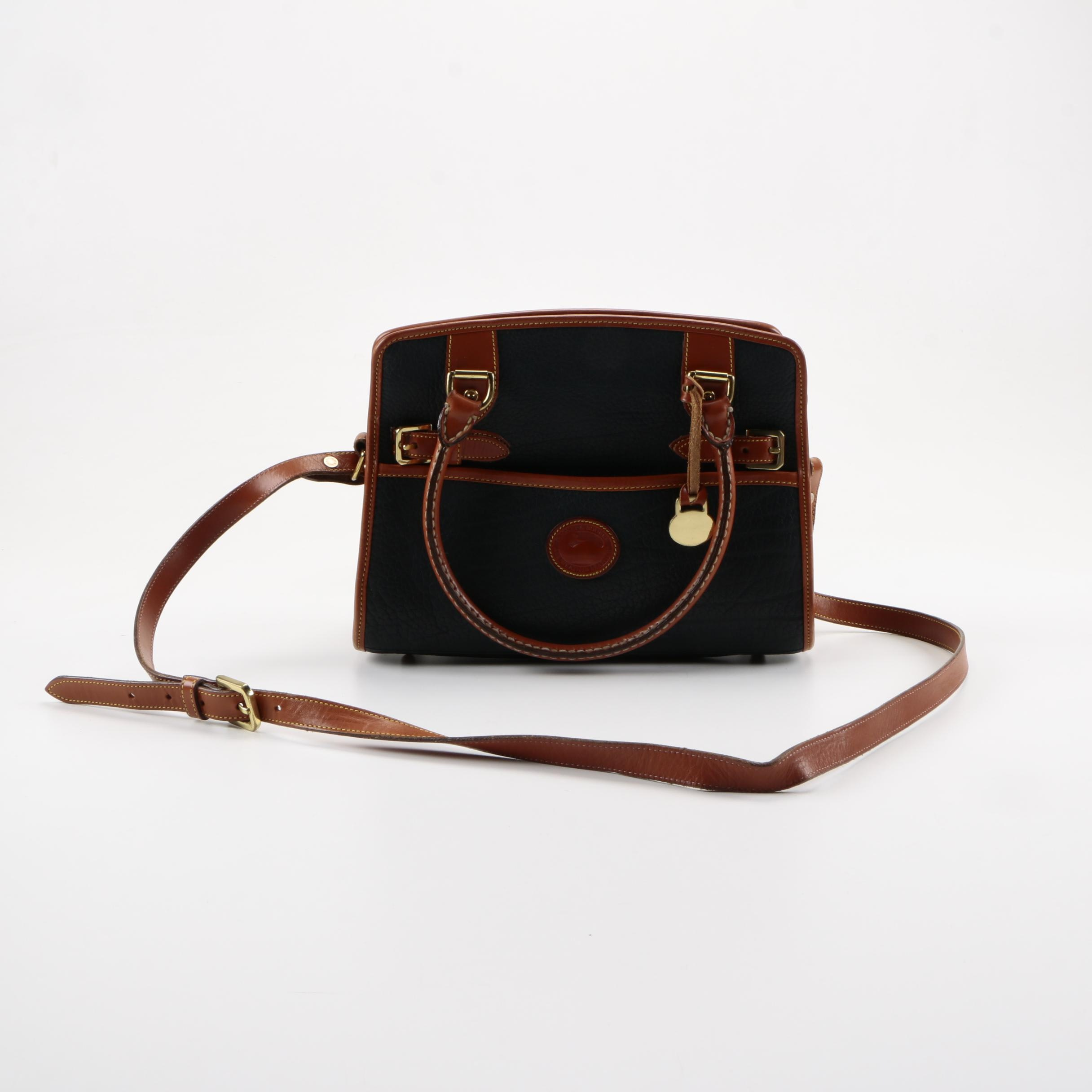 Dooney & Bourke All Leather Weather Buckle Satchel