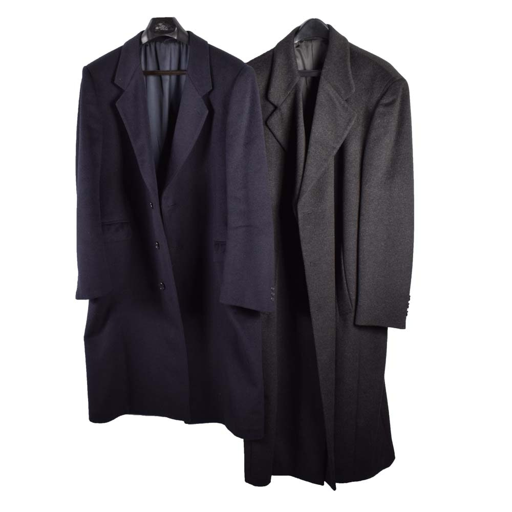 Men's Wool and Cashmere Blend Coats