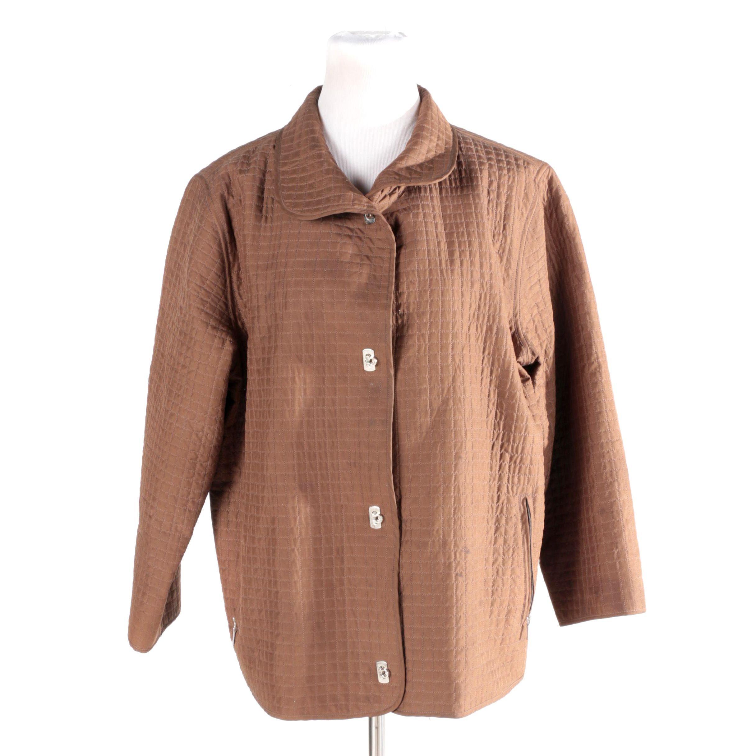 Women's Mel & Lisa Quilted Silk Jacket