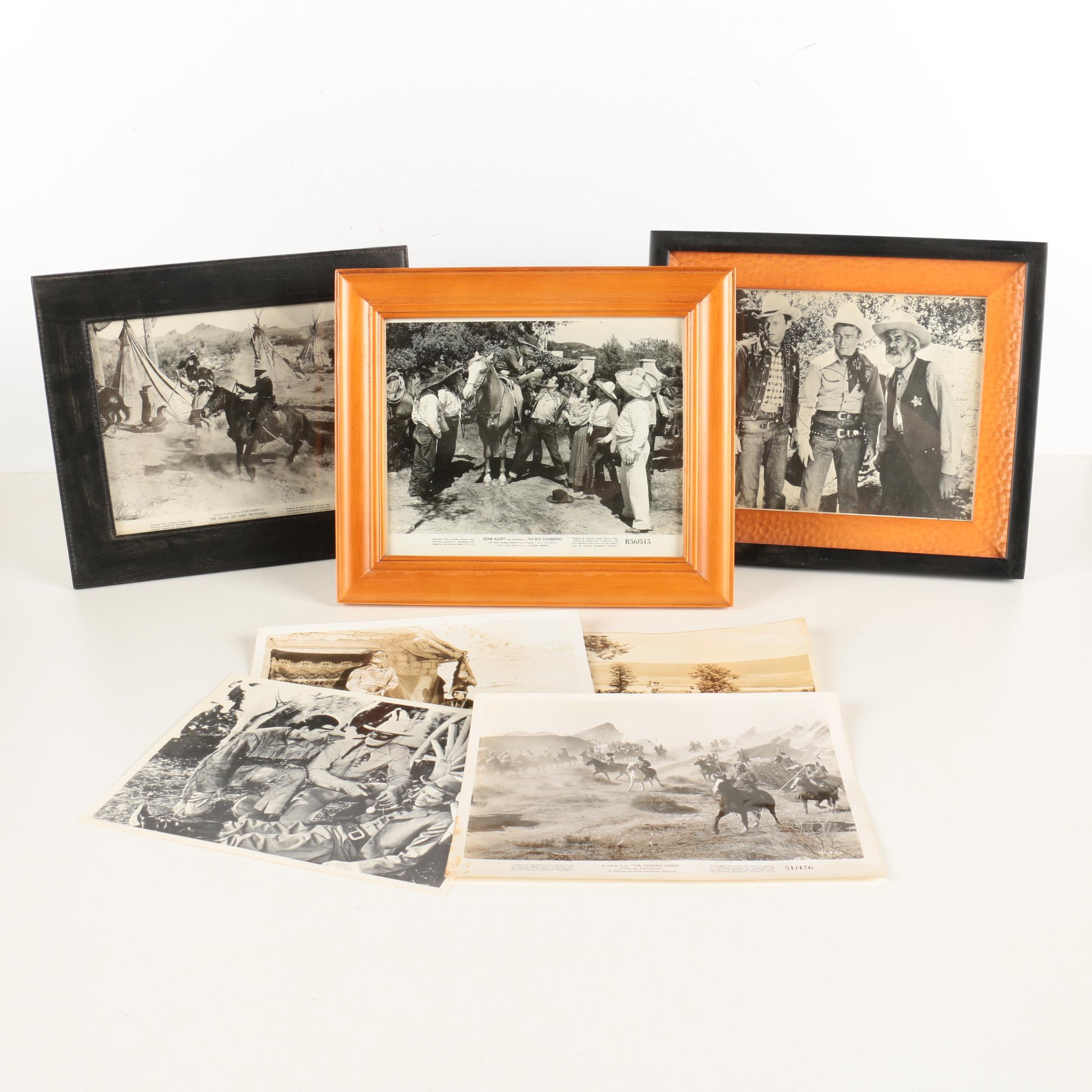 Assortment of Set Photographs and Prints of Vintage Western Movies